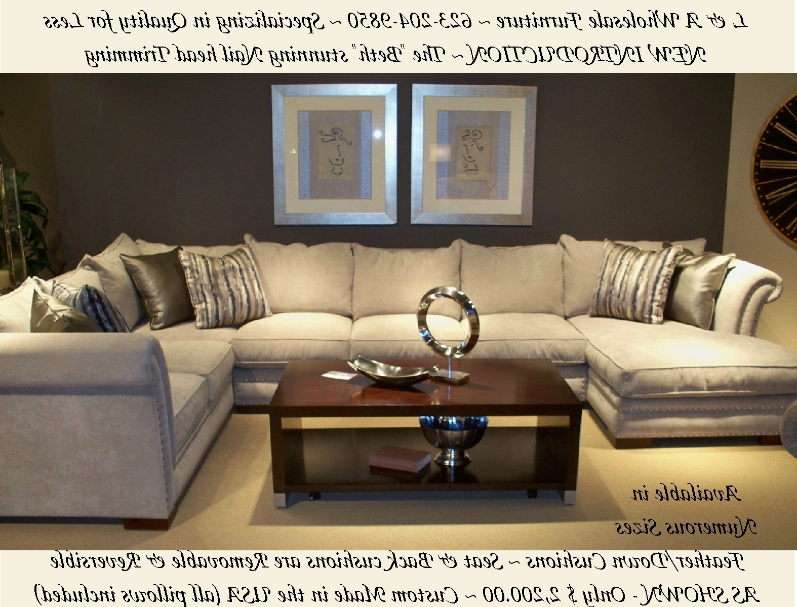 Most Popular Down Feather Sectional Sofas Within L & A Wholesale Furniture Glendale Arizona Direct Web Link Http (View 4 of 20)