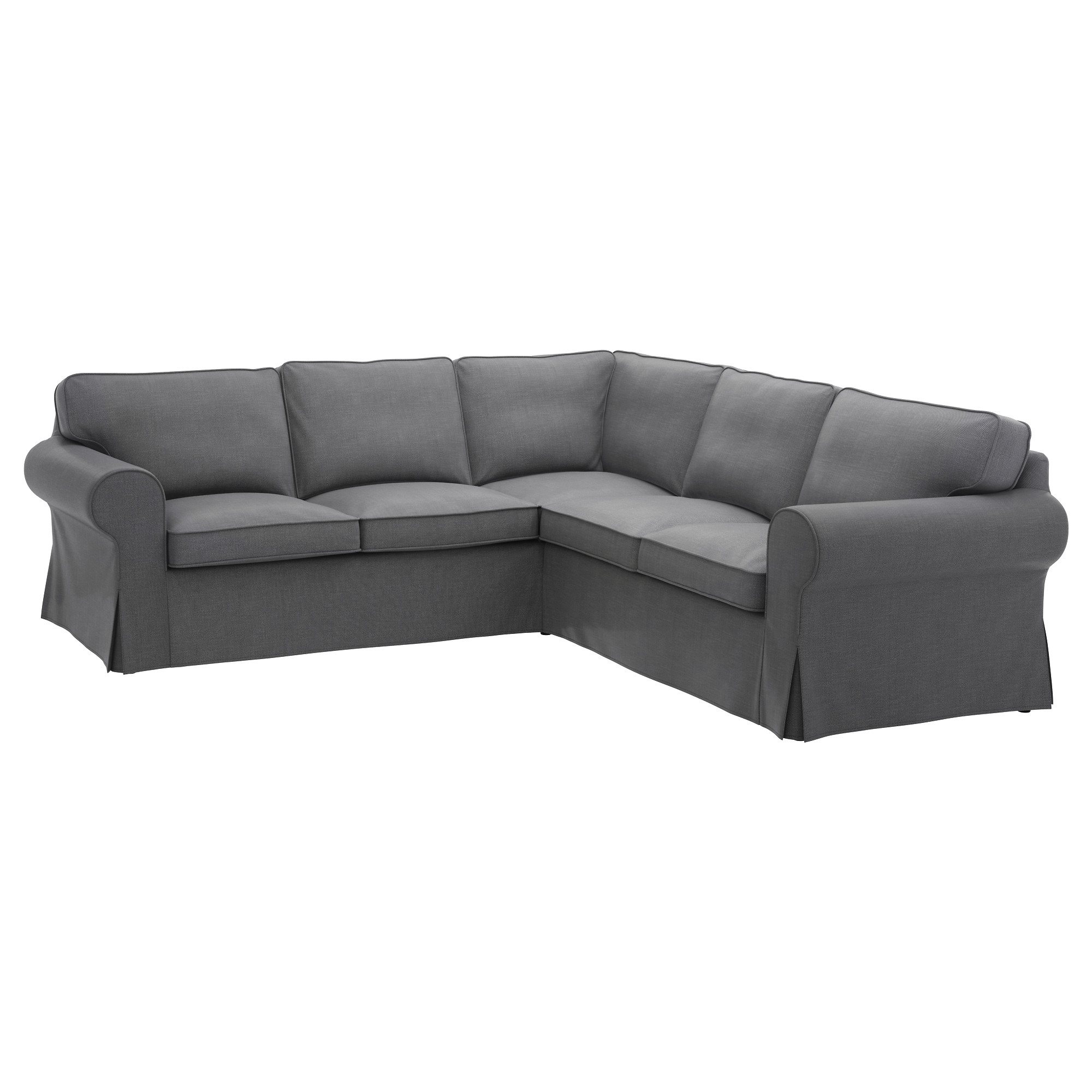 Most Popular Ektorp Sectional, 4 Seat Corner – Nordvalla Dark Gray – Ikea For Memphis Sectional Sofas (View 13 of 20)