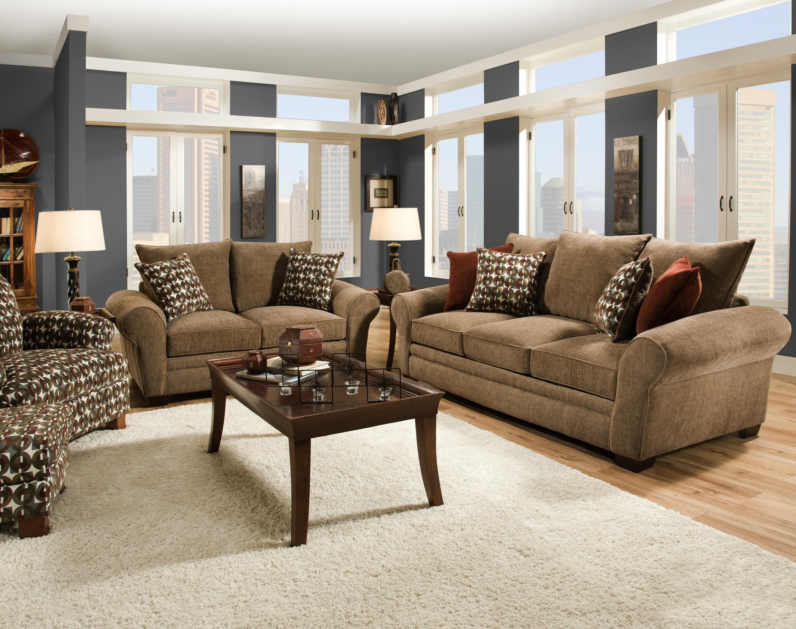 Most Popular Elegant And Casual Living Room Sofa For Family Styled Comfort Throughout Comfortable Sofas And Chairs (View 14 of 20)