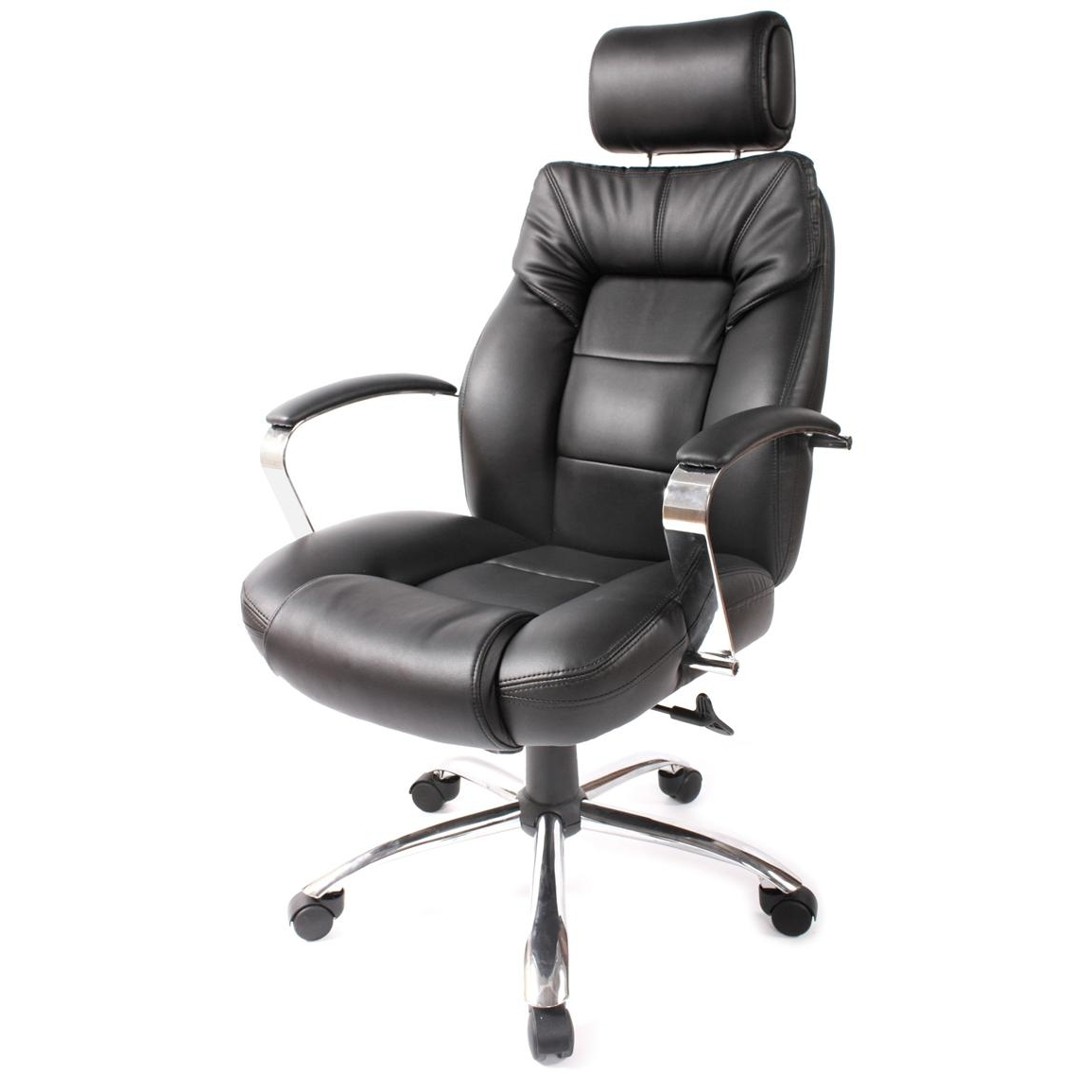 Most Popular Executive Office Chairs With Headrest With Regard To Comfort Products Commodore Ii Leather Chair With Adjustable (View 9 of 20)