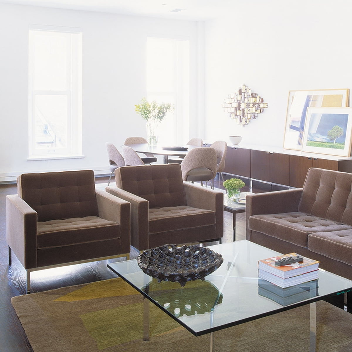 Most Popular Florence Knoll Wood Legs Sofas Throughout Knoll Florence 2 Seats Sofa In The Shop (View 12 of 20)