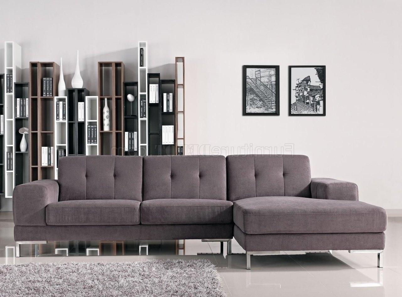 Most Popular Forli Sectional Sofa In Grey Fabric 1071bvig W/metal Legs Regarding Dania Sectional Sofas (View 14 of 20)