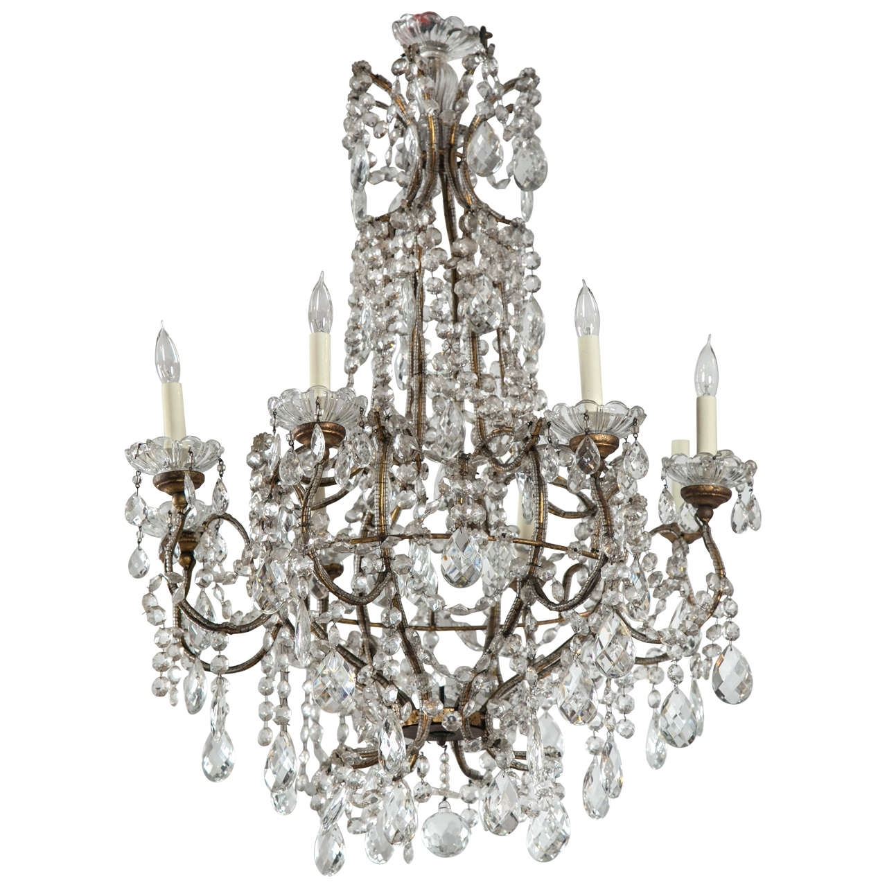 Most Popular French Style Chandeliers Delectable Crystal Modern Iron Shabby Chic Throughout Vintage French Chandeliers (View 14 of 20)