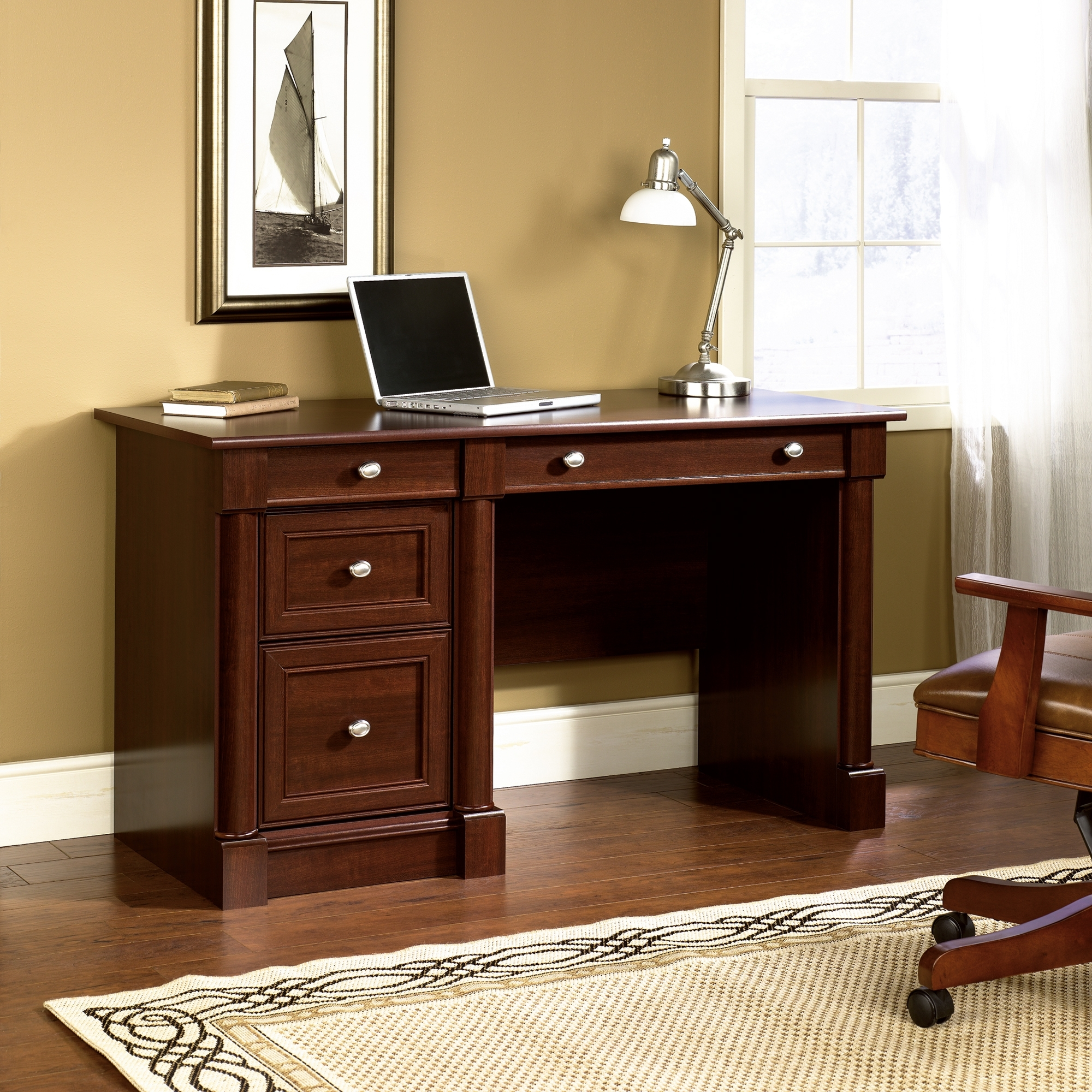 Most Popular Furniture : Cheap Small Computer Desk Wicker Computer Desk Desktop In Brown Computer Desks (View 12 of 20)