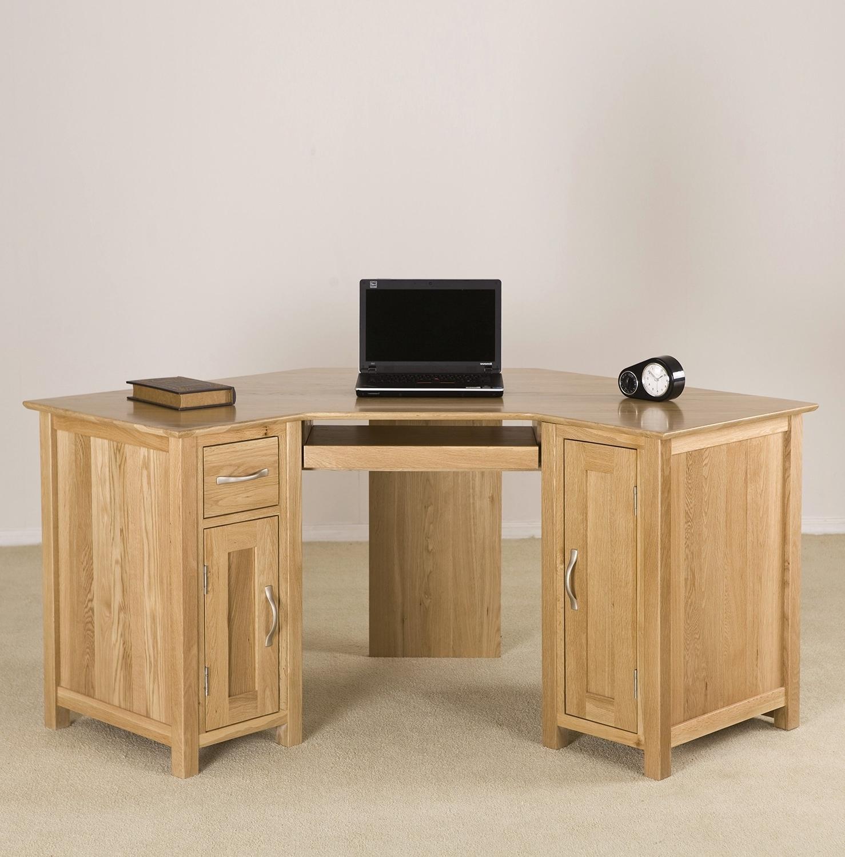 Most Popular Furniture : Corner Computer Desk Mission Oak Plus Furniture With Regard To Computer Desks In Oak (View 13 of 20)
