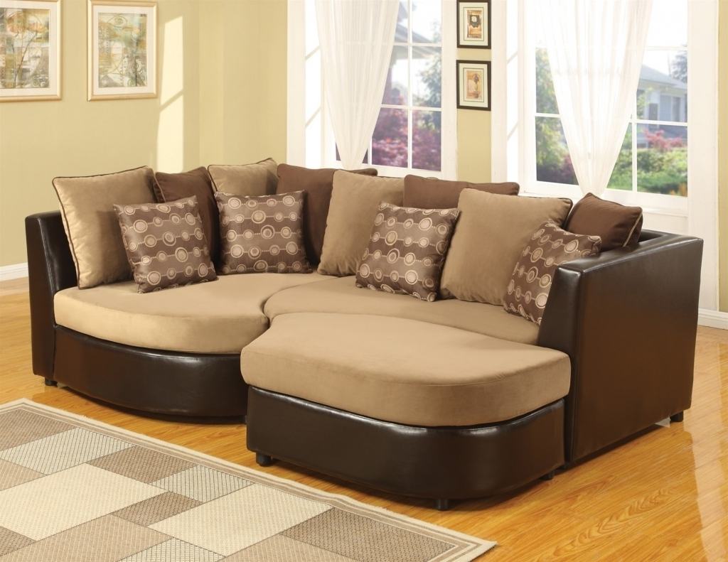 Most Popular Furniture: Microsuede Sectional Elegant Living Room Unique Inside Oshawa Sectional Sofas (View 3 of 20)