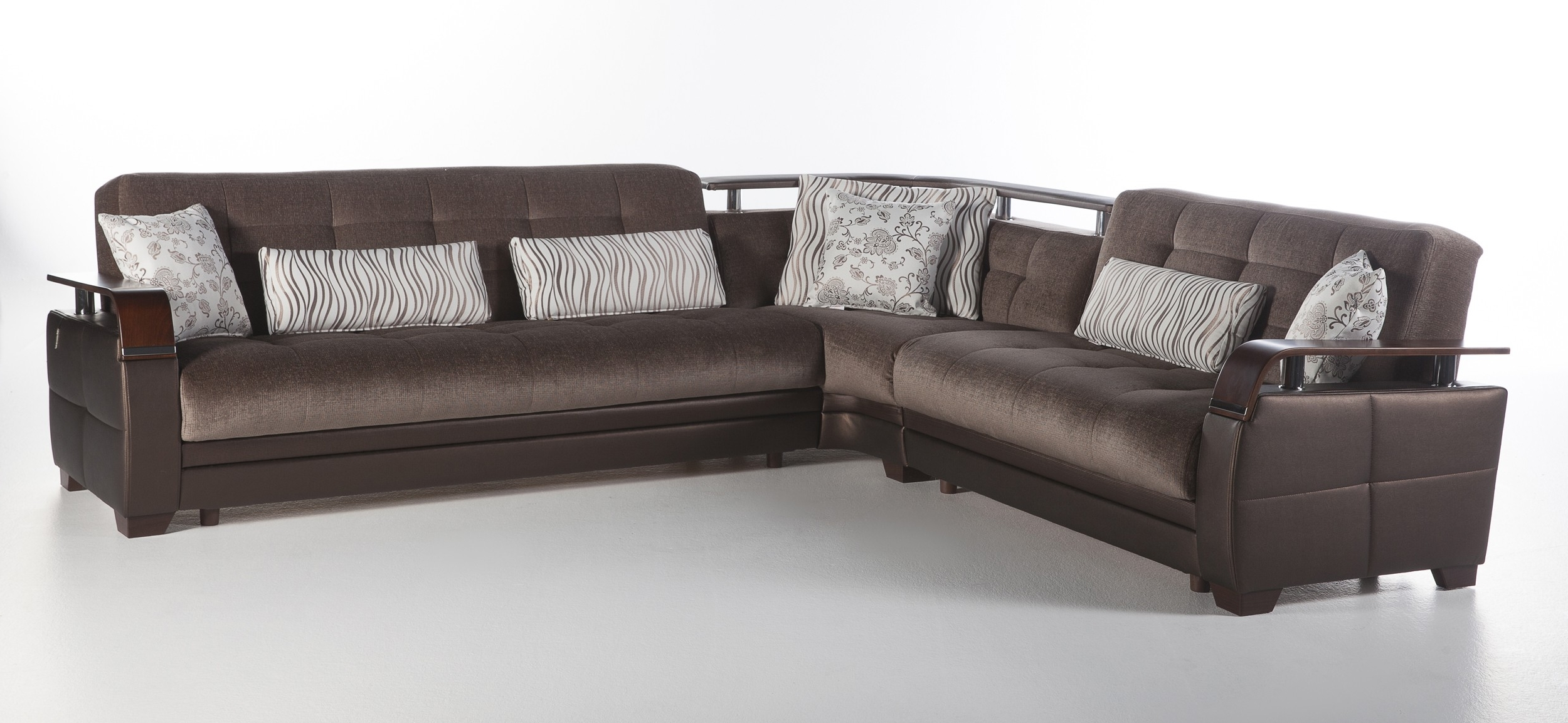 Most Popular Furniture : Natural Convertible Sectional Sofa In Prestige Brown For Convertible Sectional Sofas (View 17 of 20)