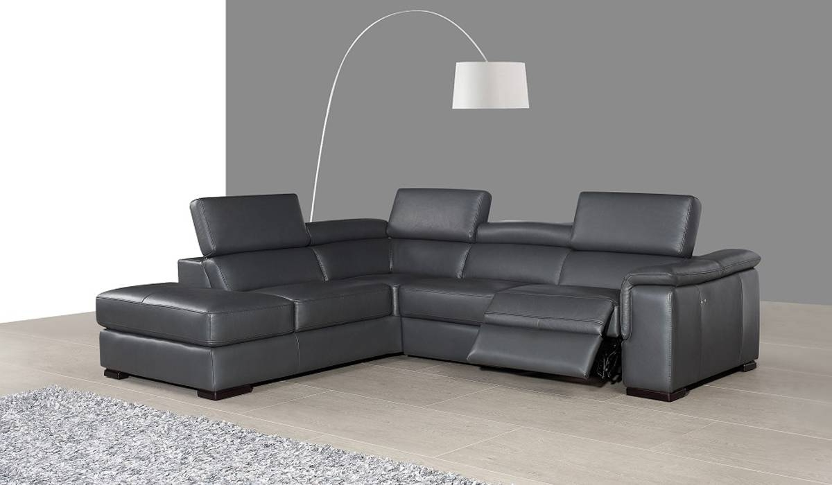 Most Popular Genuine Leather Sectional Costco Leather Recliner Sectional Sofas Regarding Modern Reclining Leather Sofas (View 9 of 20)