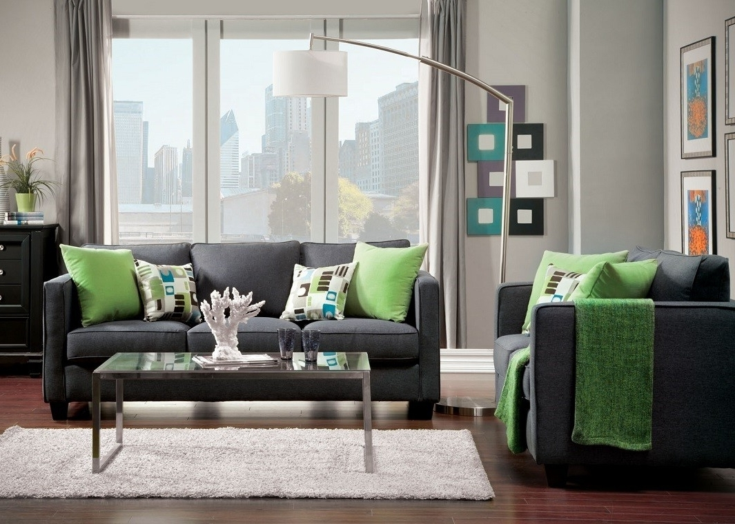 Most Popular Gray Fabric Sofa Inside Fabric Sofas (View 13 of 20)