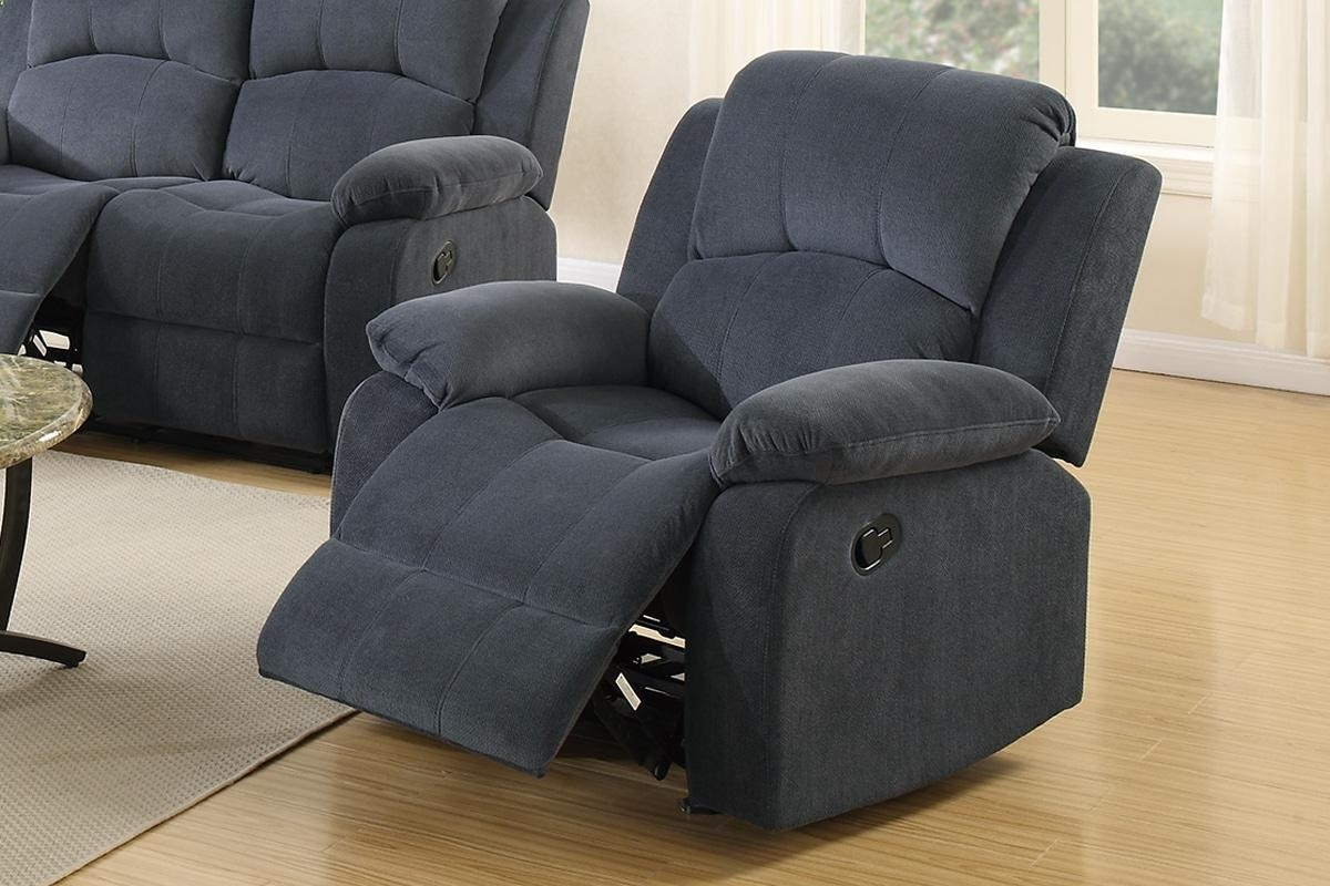 Most Popular Grey Fabric Rocker Recliner Chair – Steal A Sofa Furniture Outlet For Rocking Sofa Chairs (View 8 of 20)