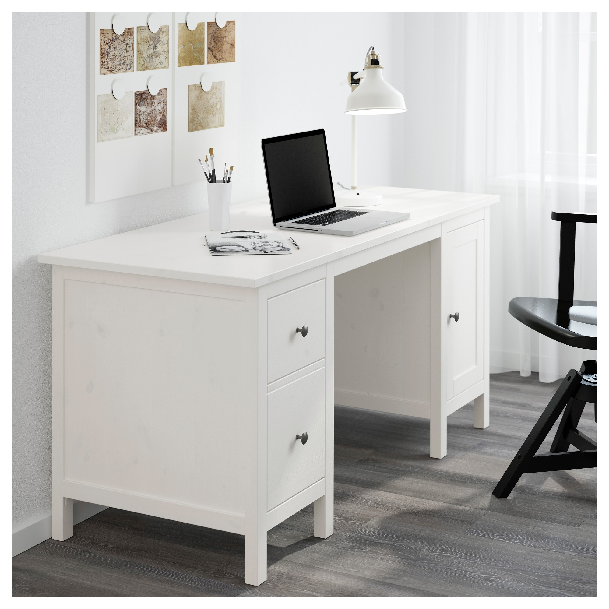Most Popular Ikea Mn Computer Desks For Hemnes Desk – Dark Gray Stained – Ikea (View 11 of 20)