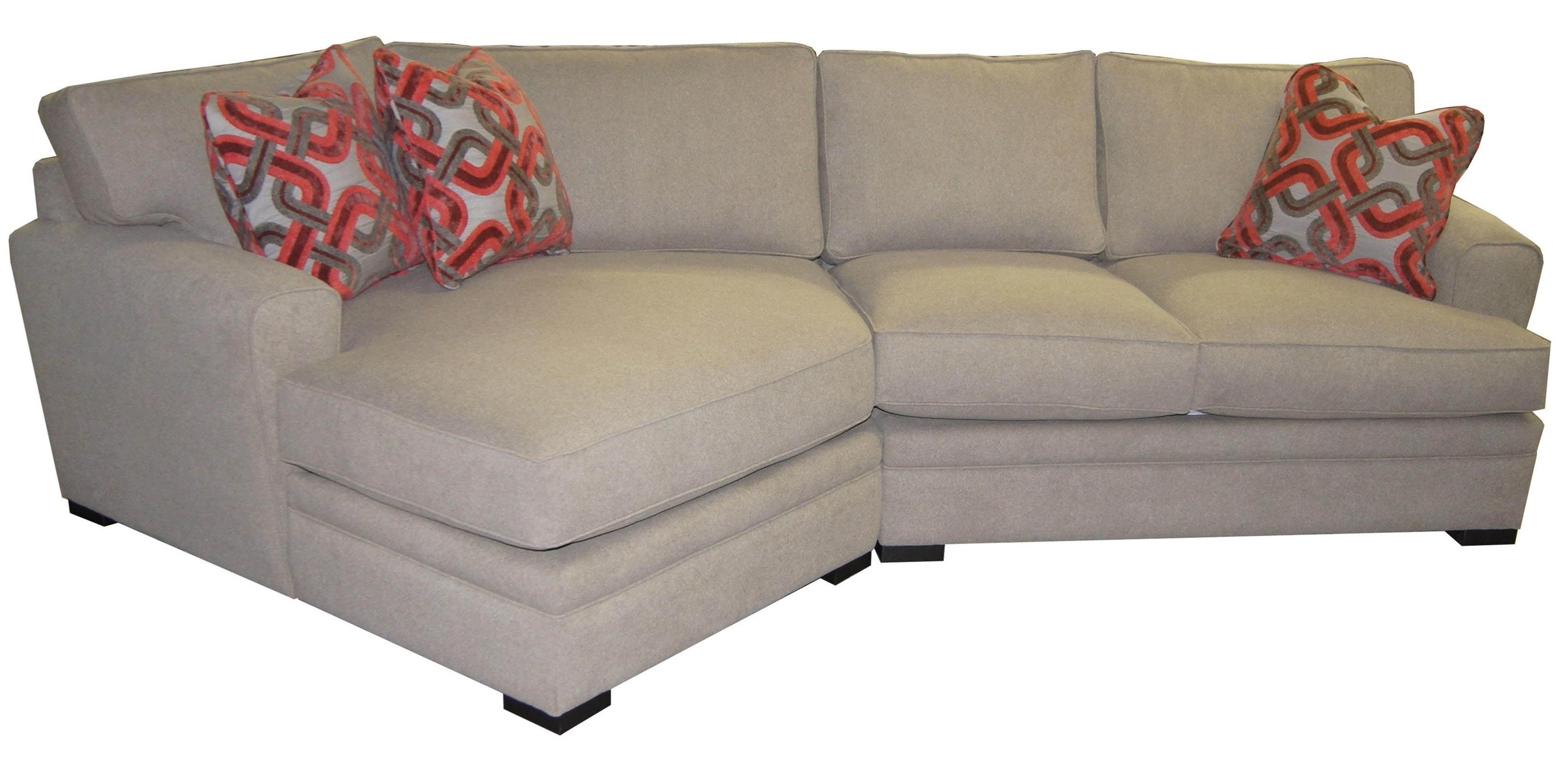 Most Popular Jonathan Louis Aries Casual Sectional Sofa With Rolled Arms – John Inside Pittsburgh Sectional Sofas (View 16 of 20)