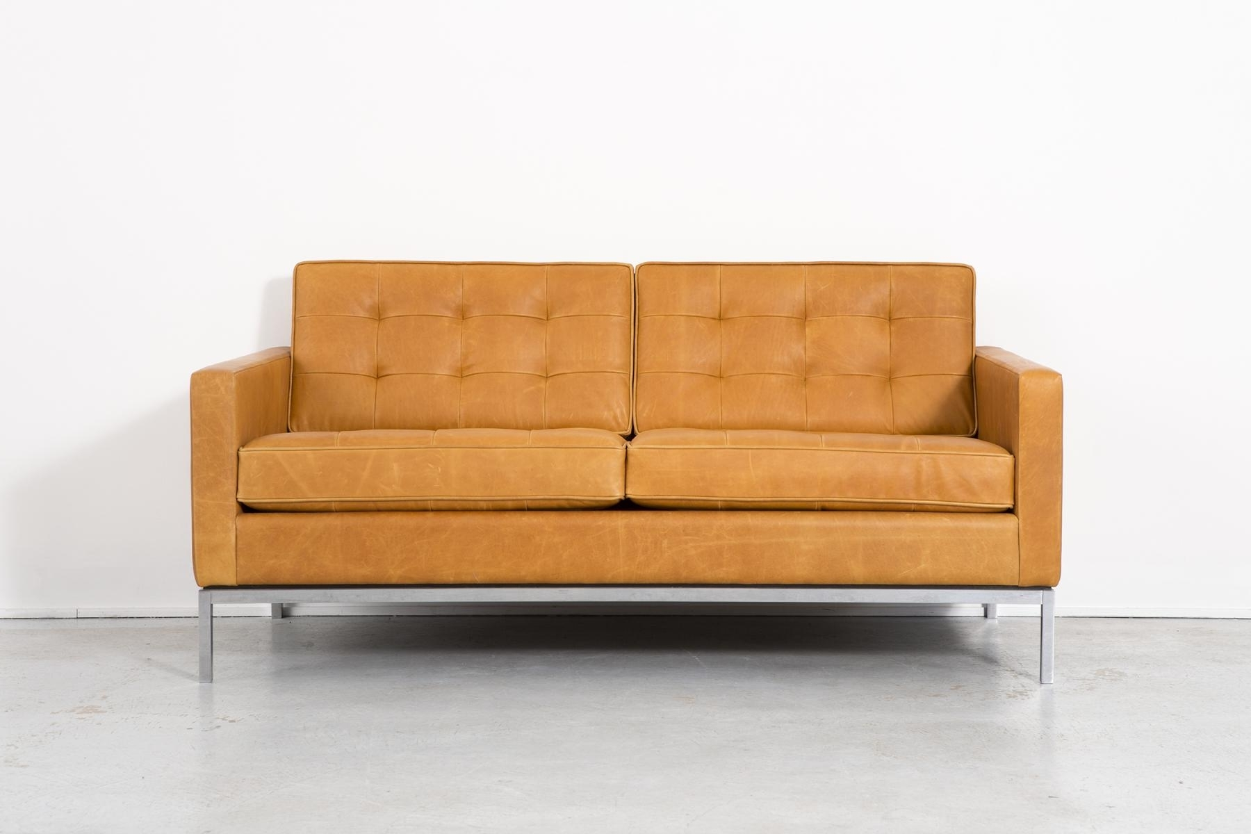 Most Popular Leather Sofaflorence Knoll Bassett For Knoll, 1970S For Sale Regarding Florence Leather Sofas (View 14 of 20)