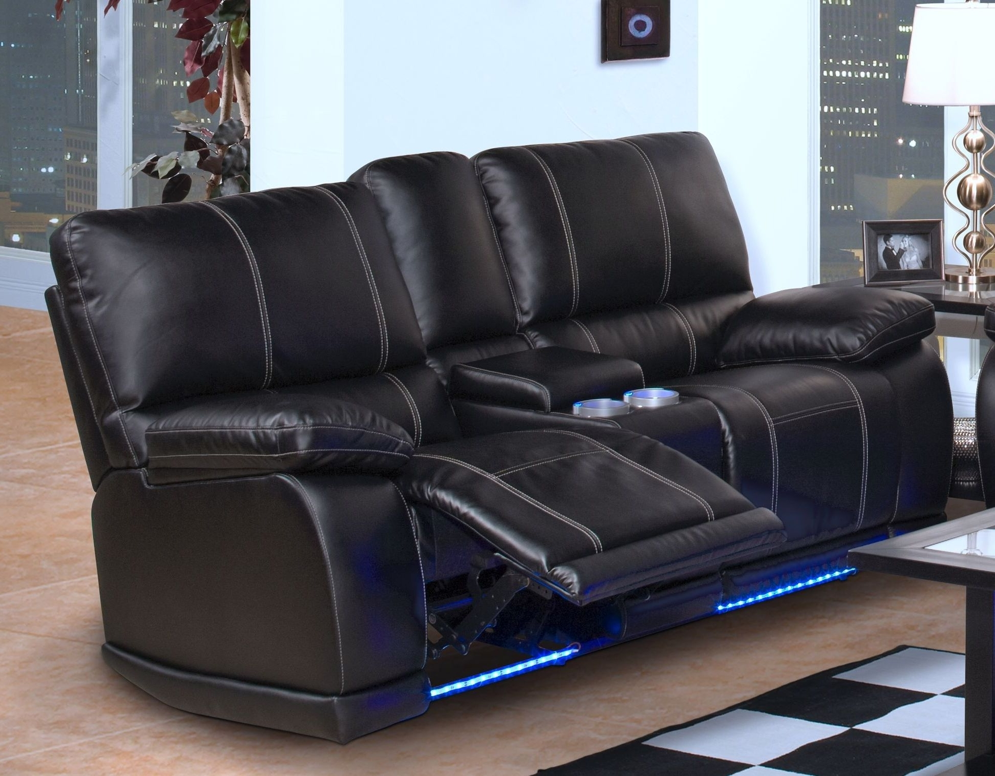 Most Popular Leather Sofas With Storage Pertaining To Recliners With Storage Lazy Boy Sectional Power Recliners Full (View 14 of 20)