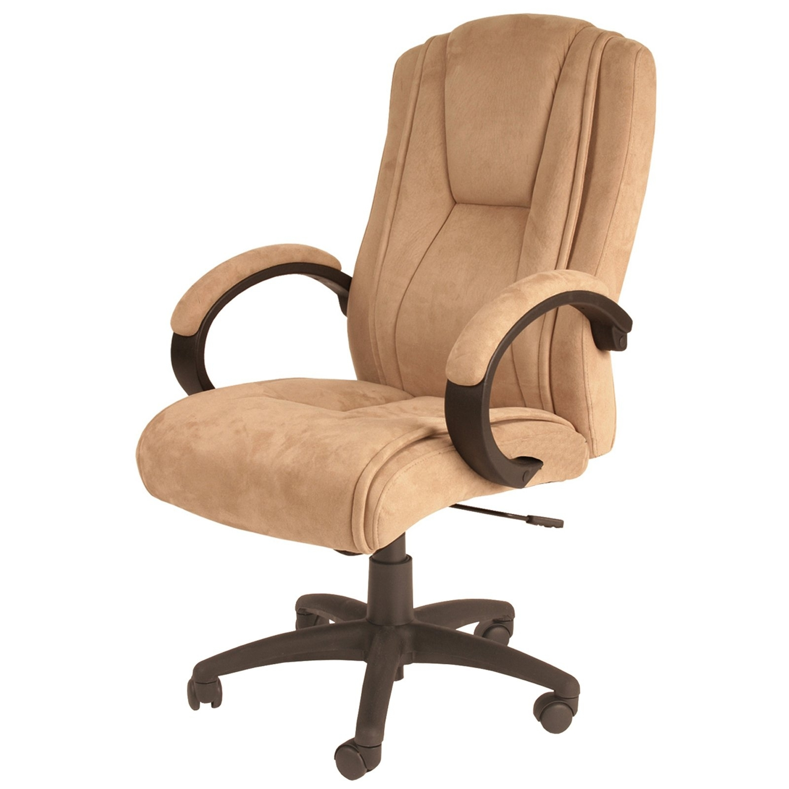 Most Popular Light Beige Microfiber Executive Office Chairs With Tan Suede Office Chair • Office Chairs (View 4 of 20)