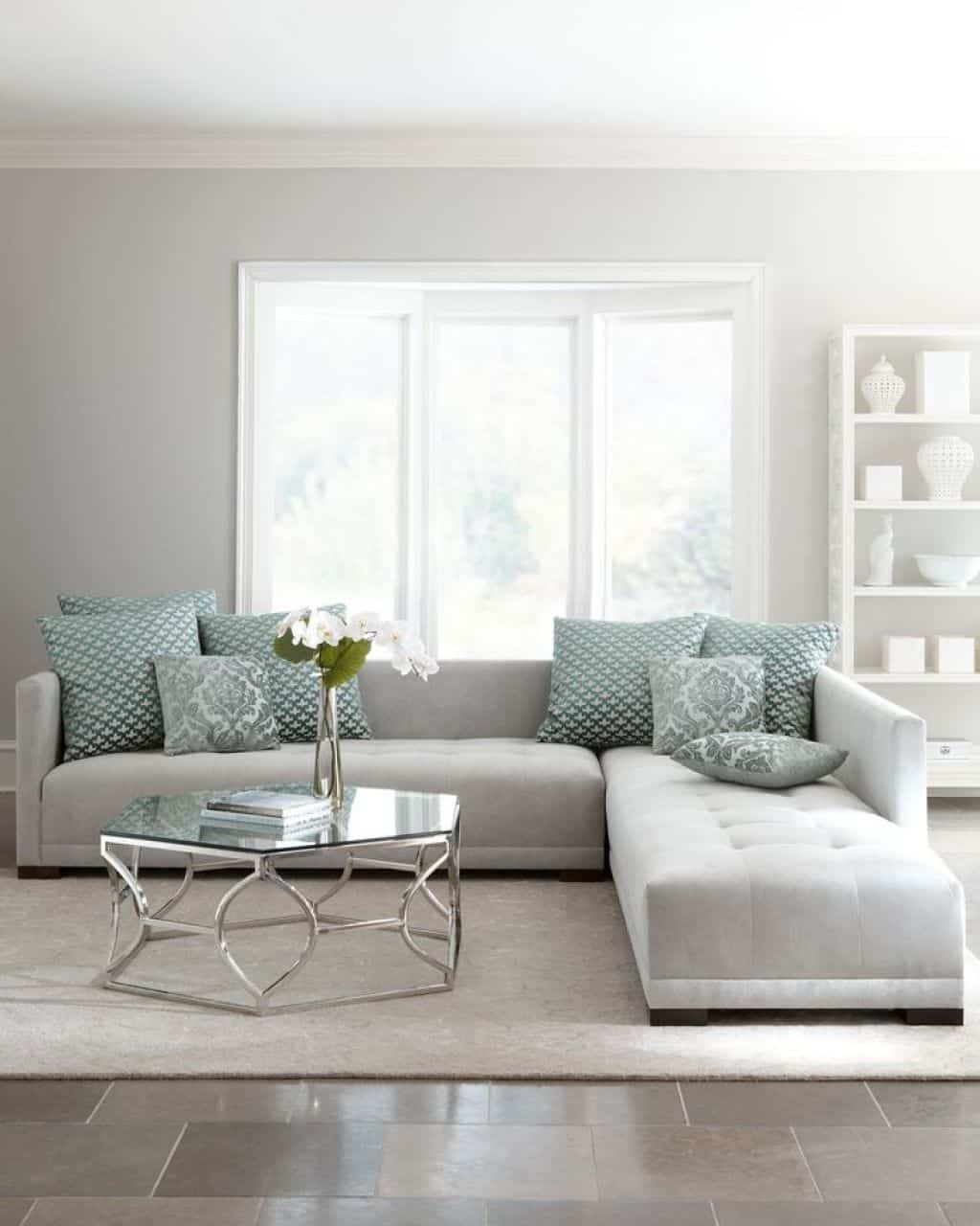 Most Popular Light Grey Sectional Sofas Regarding Living Room With Light Grey Sectional Sofa – Ways To Move A (Gallery 9 of 20)