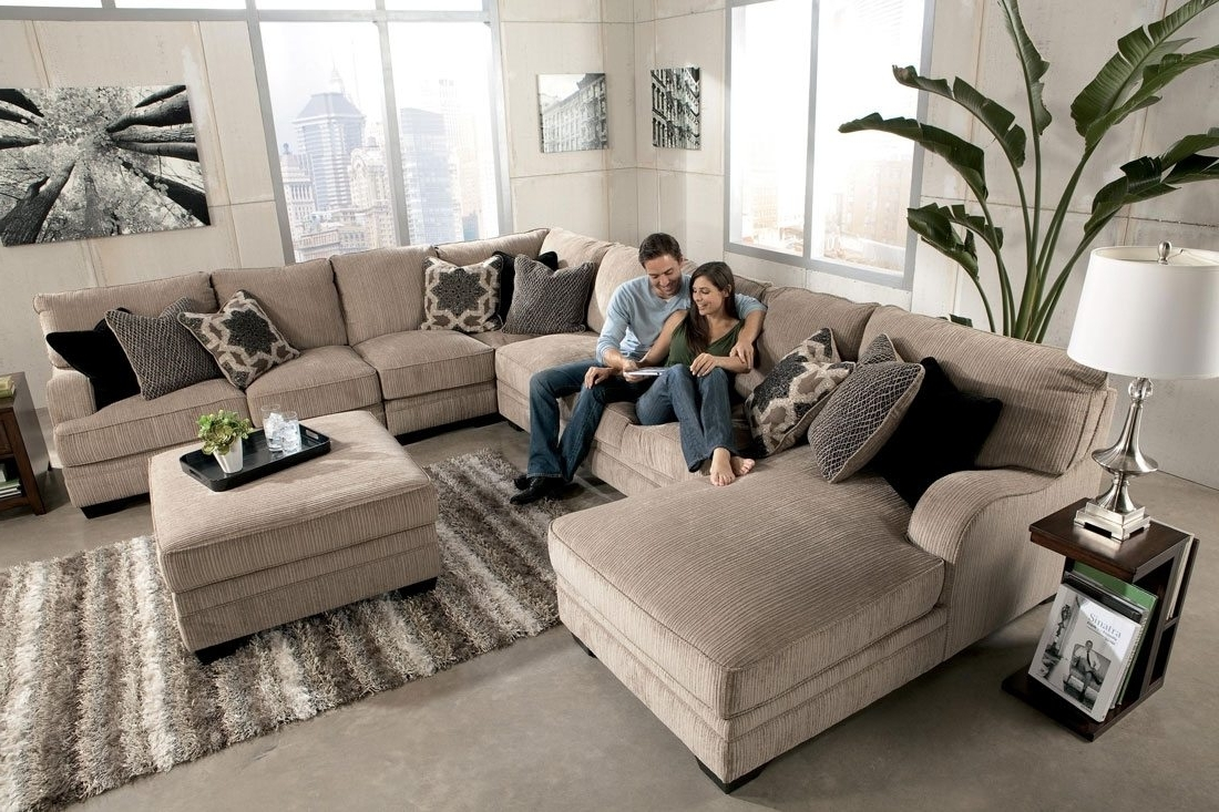 Most Popular Long Chaise Sofas Within Sofa : Nice Large Sectional Sofa With Chaise Sofas Fancy As (View 18 of 20)