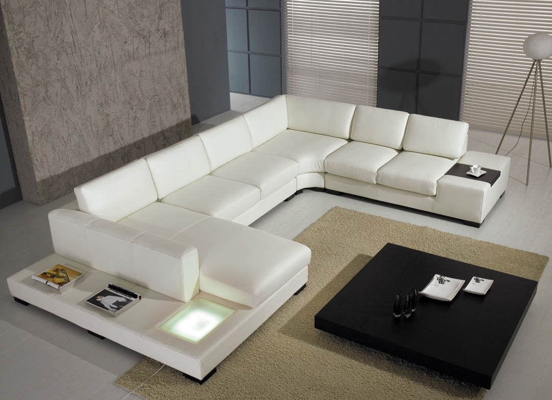 Most Popular Miami Sectional Sofas For T 35 Modern Leather Sectional Sofa (View 10 of 20)