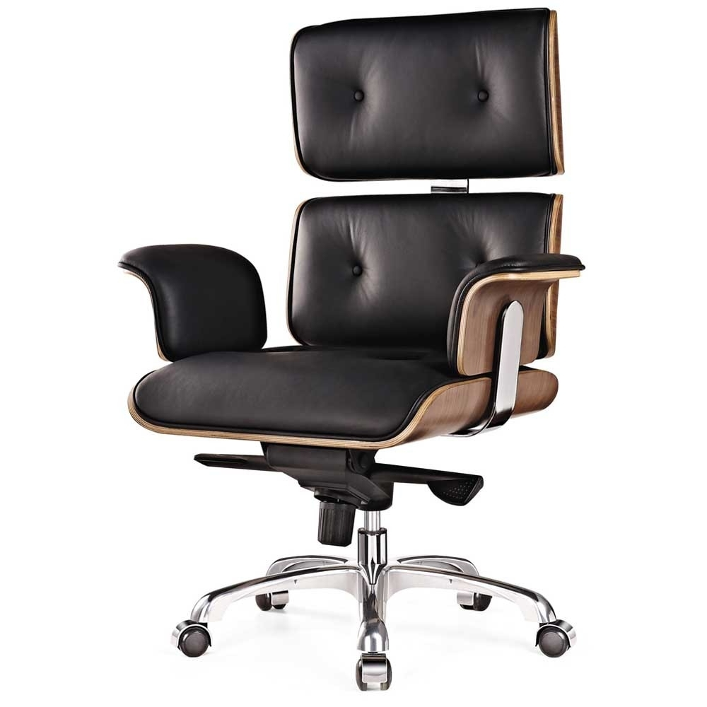 Most Popular Milan Direct Eames Premium Leather Replica Executive Office Chair Inside Executive Office Chairs (View 6 of 20)