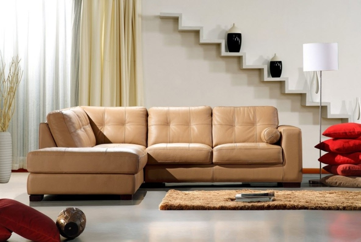 Most Popular Modern Home And Office Furniture Store Divani Casa 306Ang Camel Throughout Camel Sectional Sofas (View 7 of 20)