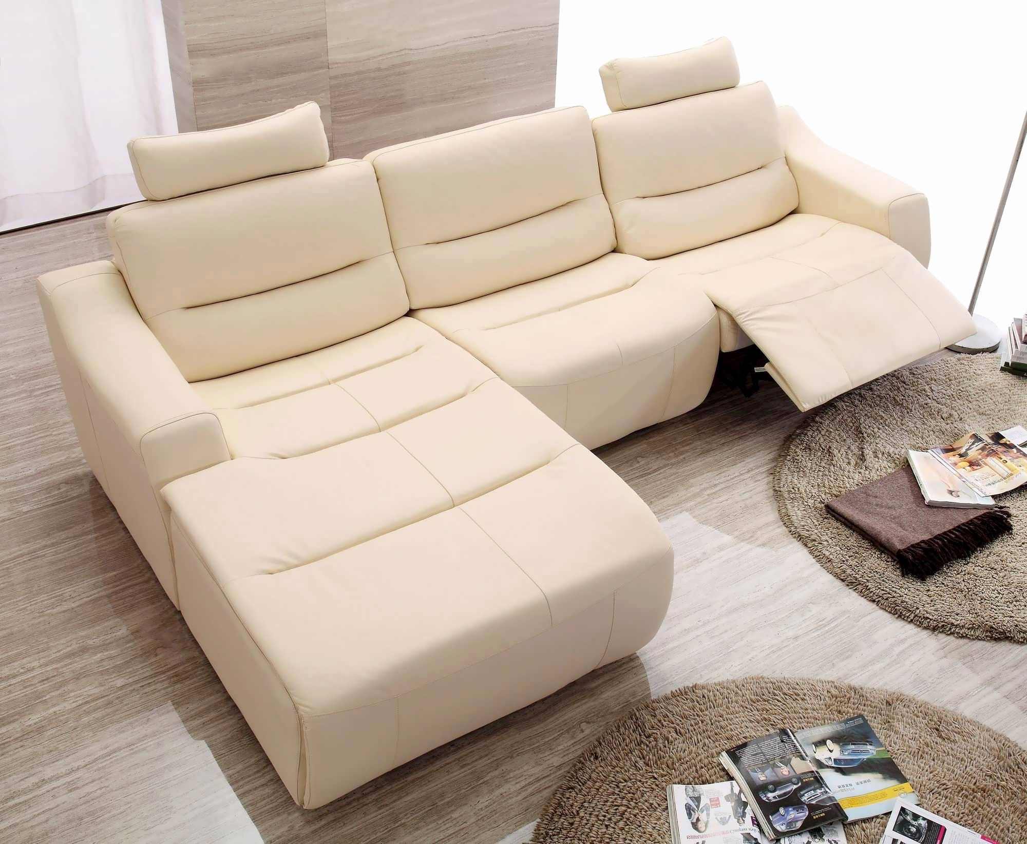 Most Popular Modern Reclining Leather Sofas For Sofa : Small Leather Sectional Sofa Elegant Recliners Chairs (View 15 of 20)