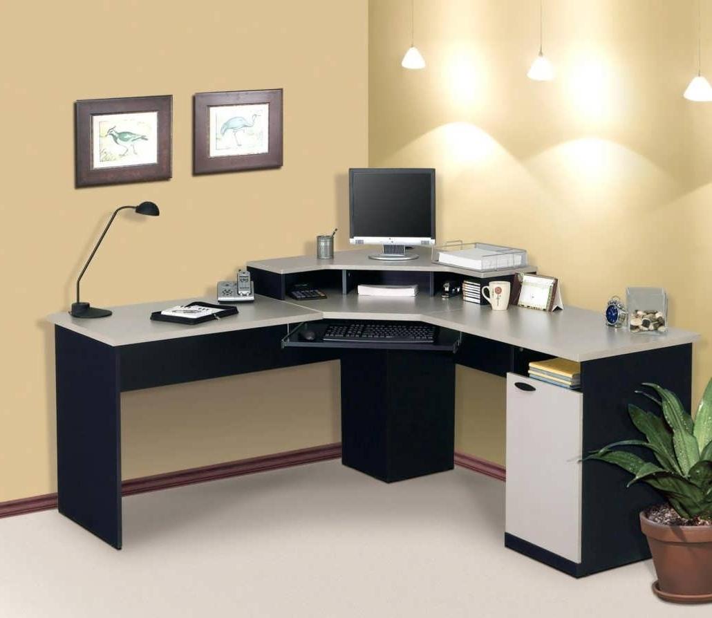 Most Popular Office Desk : Small Computer Desk White Corner Office Desk Black Inside Corner Computer Desks (View 8 of 20)