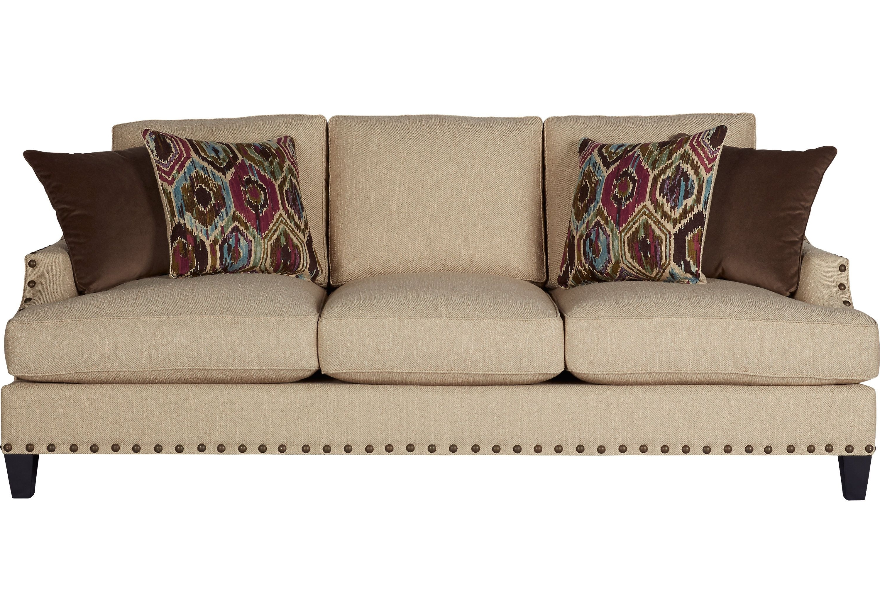 Most Popular Picture Of Cindy Crawford Home Nolita Taupe Sofa From Sofas In Cindy Crawford Sofas (View 16 of 20)