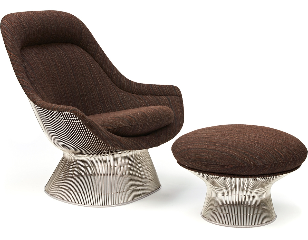 Most Popular Platner Easy Chair And Ottoman – Hivemodern With Chairs With Ottoman (View 12 of 20)