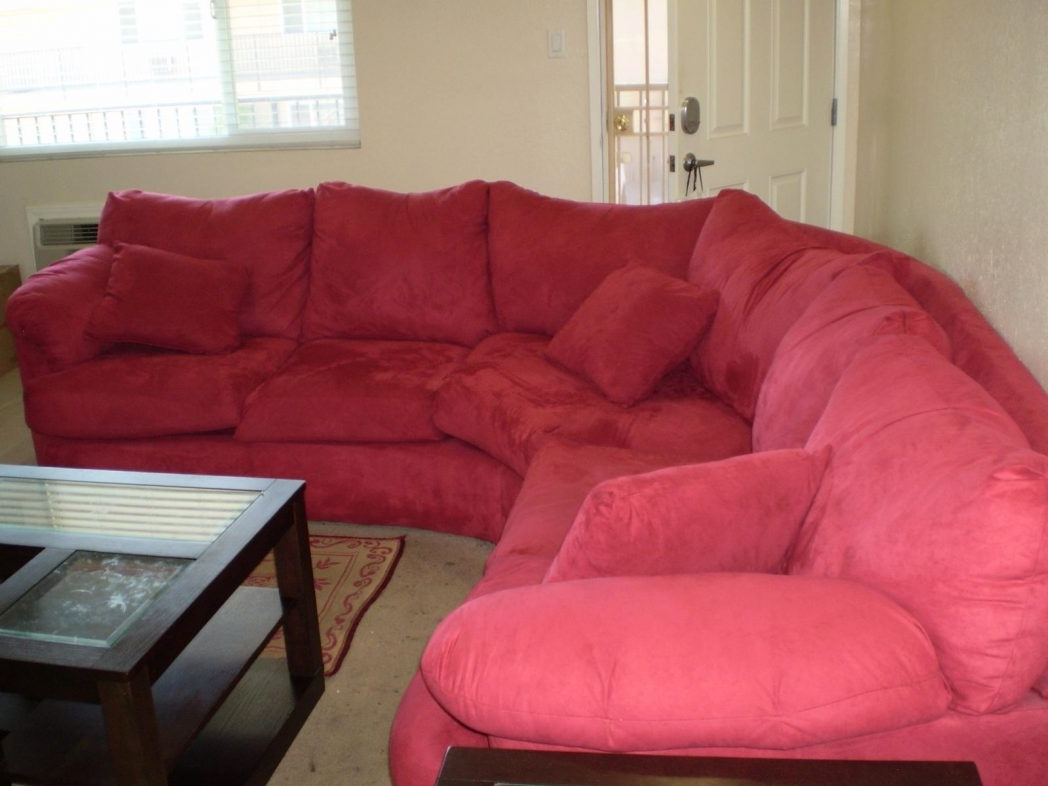 Most Popular Red Sectional Sofas With Ottoman Pertaining To Red Sectional Sofas Furniture Charming Couches With Cushions For (View 8 of 20)