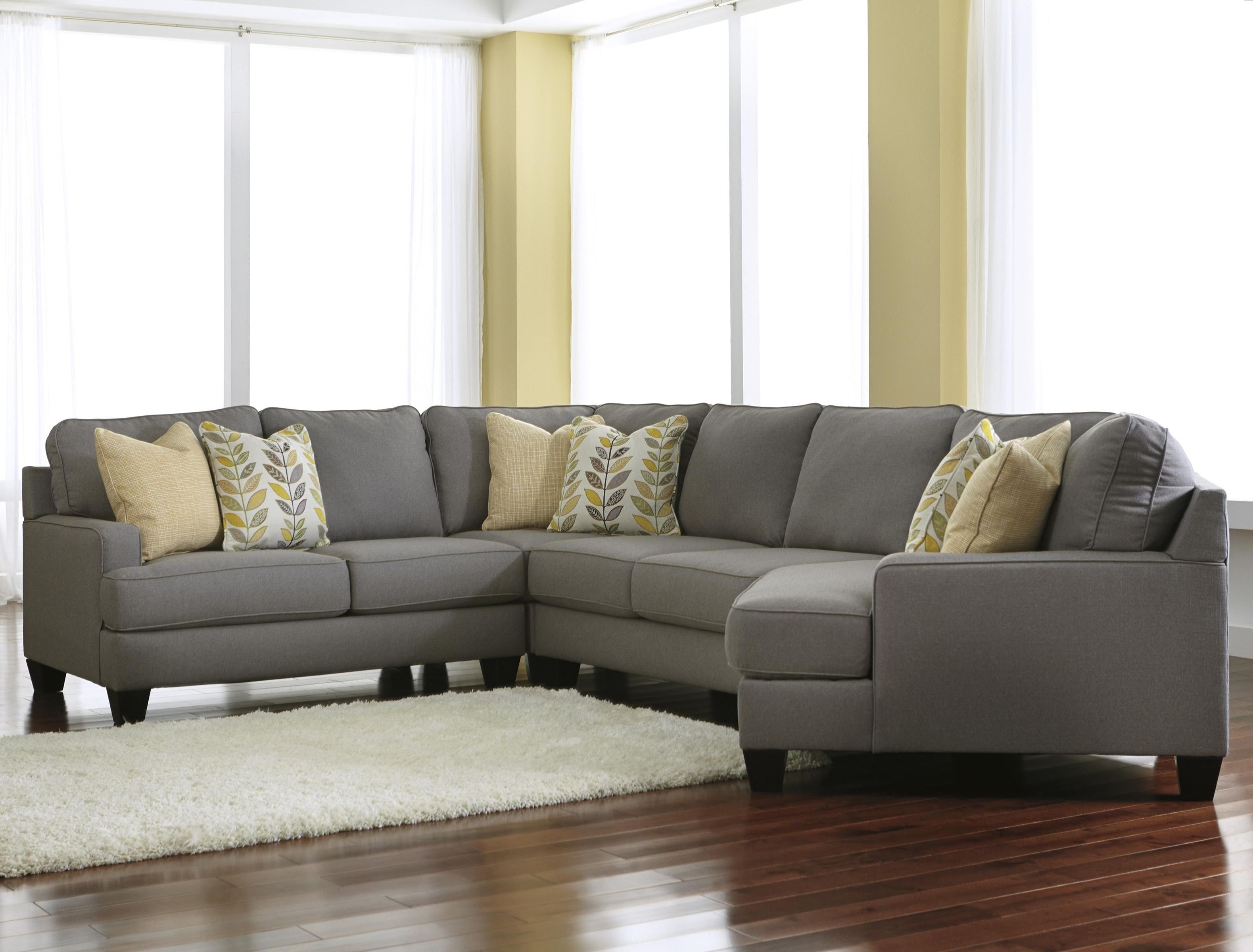 Most Popular Signature Designashley Chamberly – Alloy Modern 4 Piece With Regard To Sectional Sofas With Cuddler (View 10 of 20)