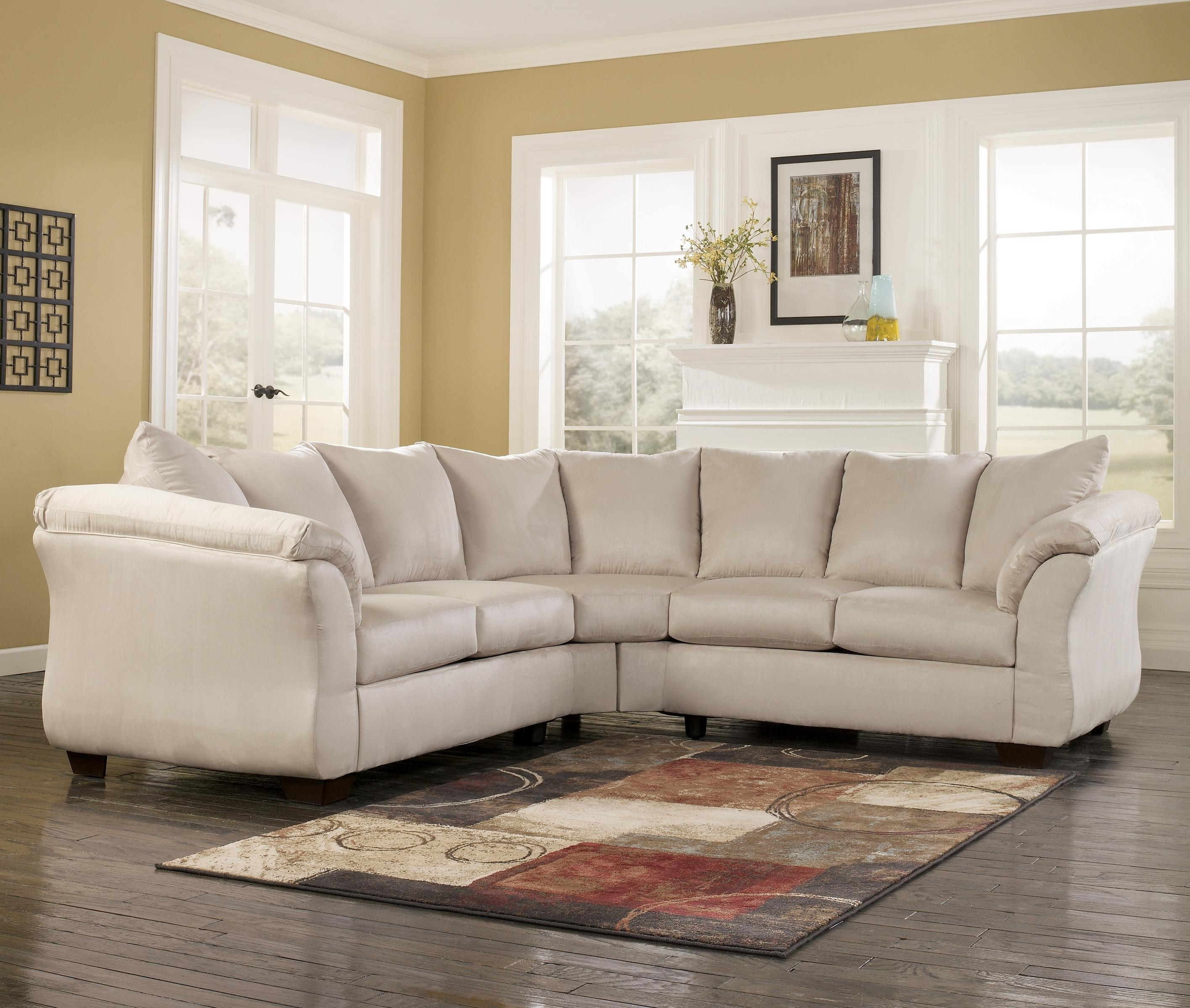 Most Popular Signature Designashley Darcy – Stone Contemporary Sectional With 102X102 Sectional Sofas (View 14 of 20)