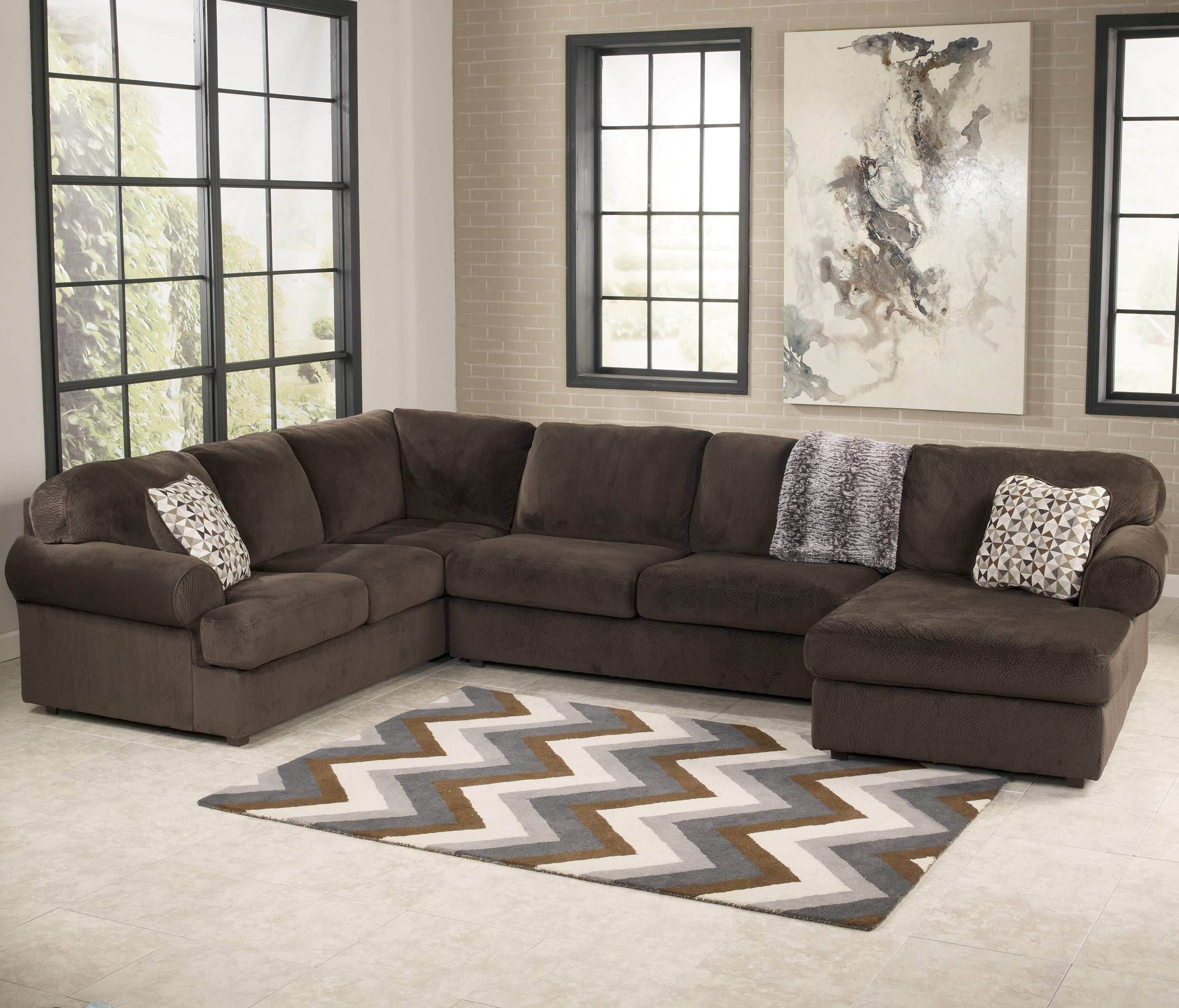 Most Popular Signature Designashley Jessa Place – Chocolate Casual With Regard To East Bay Sectional Sofas (View 12 of 20)
