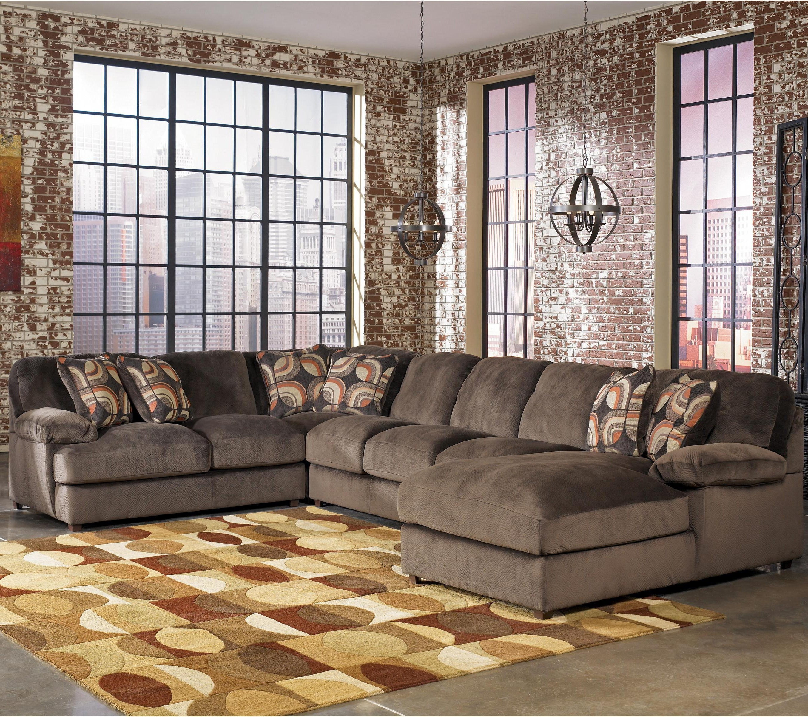 Most Popular Signature Designashley Truscotti – Cafe Contemporary 4 Piece Inside Ivan Smith Sectional Sofas (View 16 of 20)