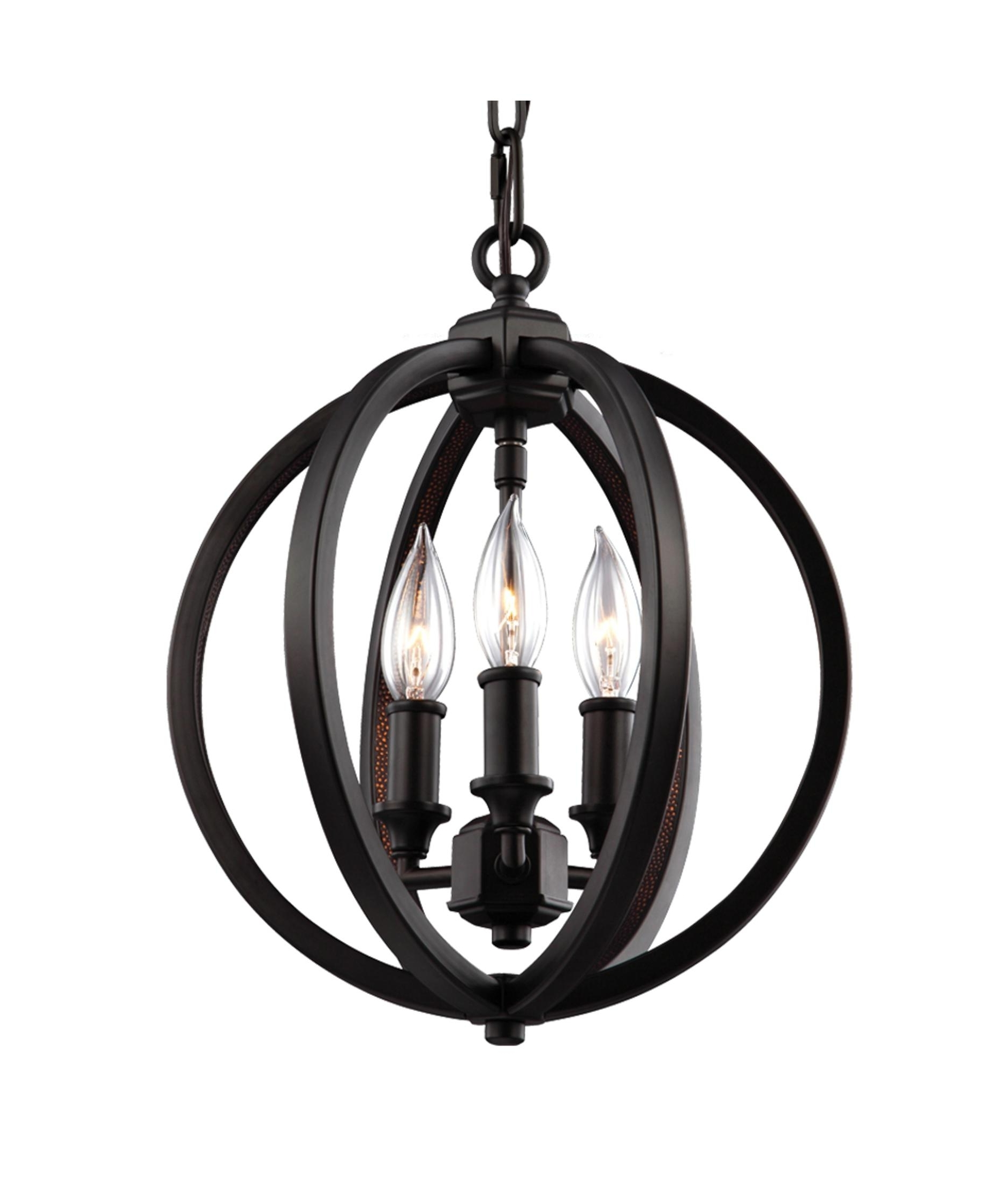 Most Popular Small Bronze Chandelier Inside Murray Feiss F3059 3 Corinne 11 Inch Wide 3 Light Mini Chandelier (View 4 of 20)