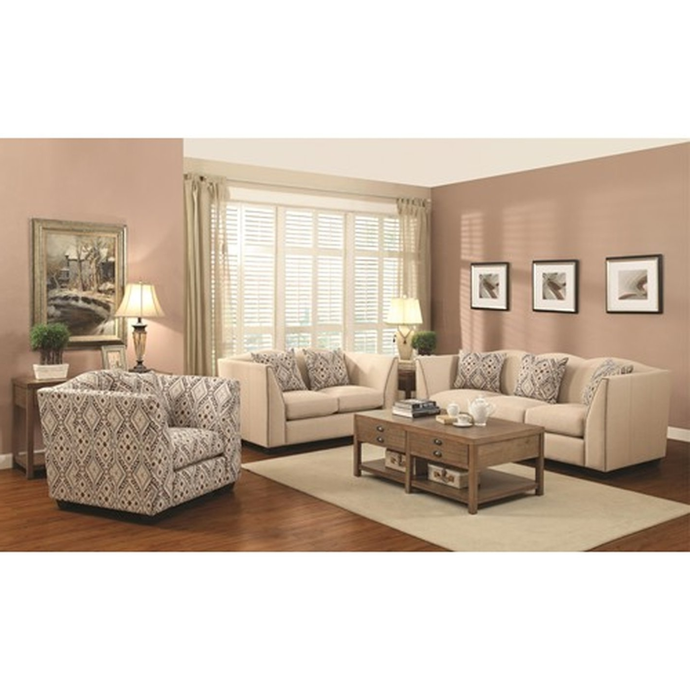 Most Popular Sofa And Accent Chair Sets Inside Siana Beige Fabric Accent Chair – Steal A Sofa Furniture Outlet (View 12 of 20)