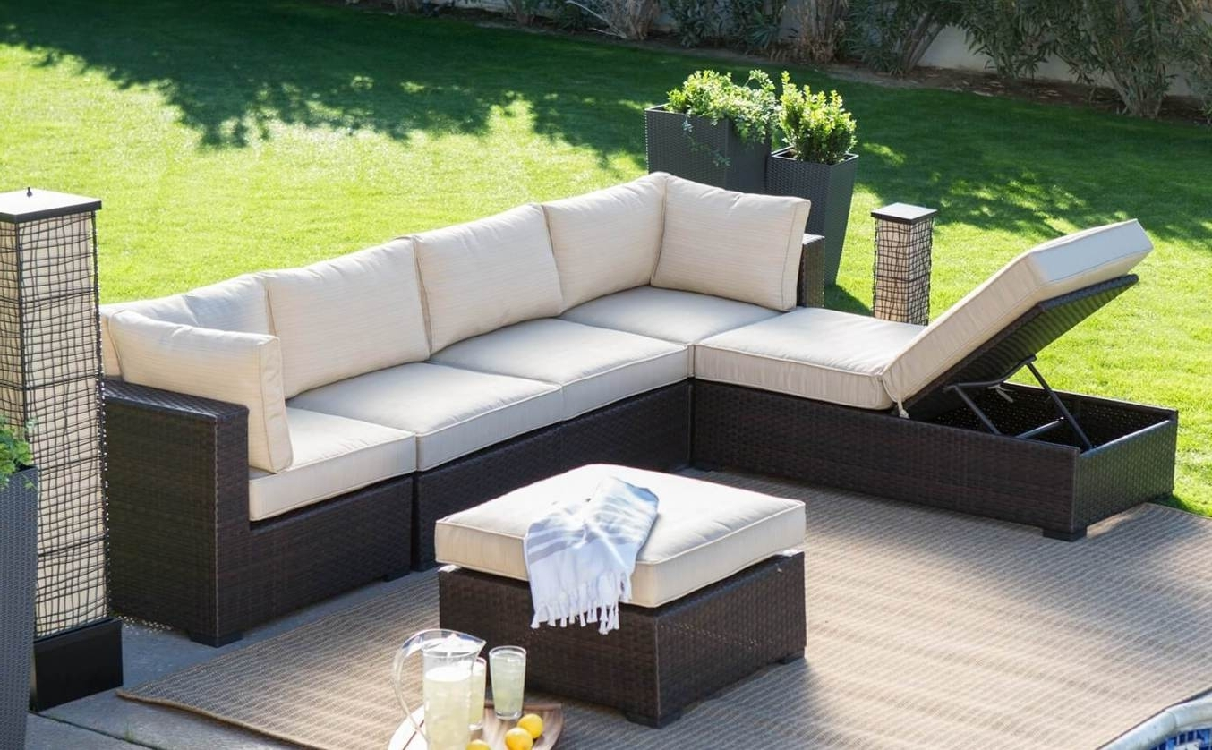 Most Popular Tasty Wicker Outdoor Furniture Seven Hills Set On Lighting In Kansas City Sectional Sofas (View 11 of 20)