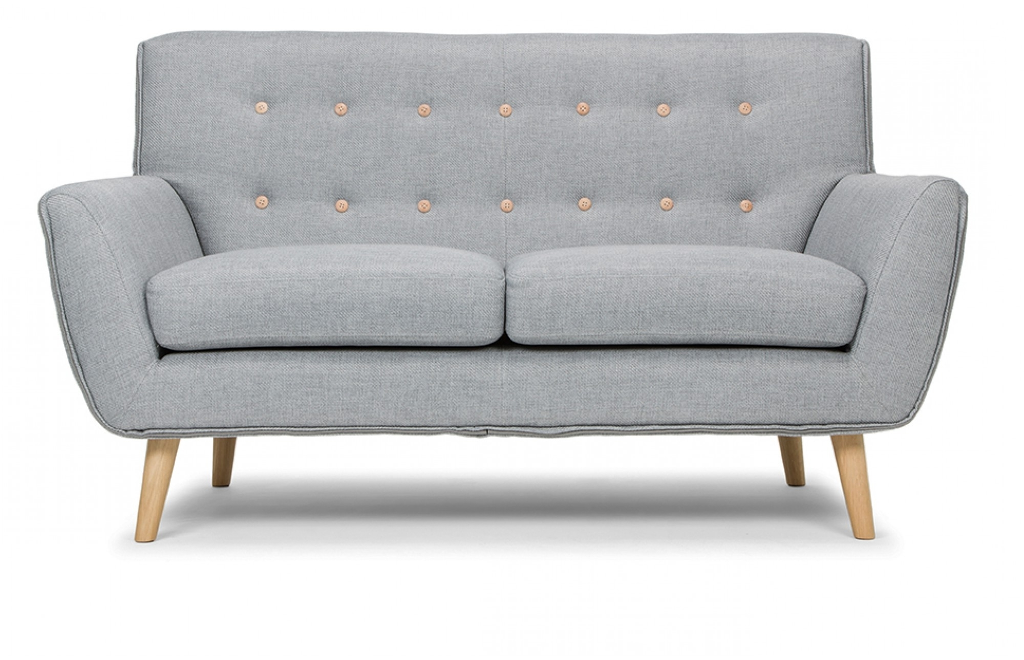 Most Popular Two Seater Sofas Throughout Grey 2 Seater Sofa – Lounge Furniture – Out & Out (View 10 of 20)