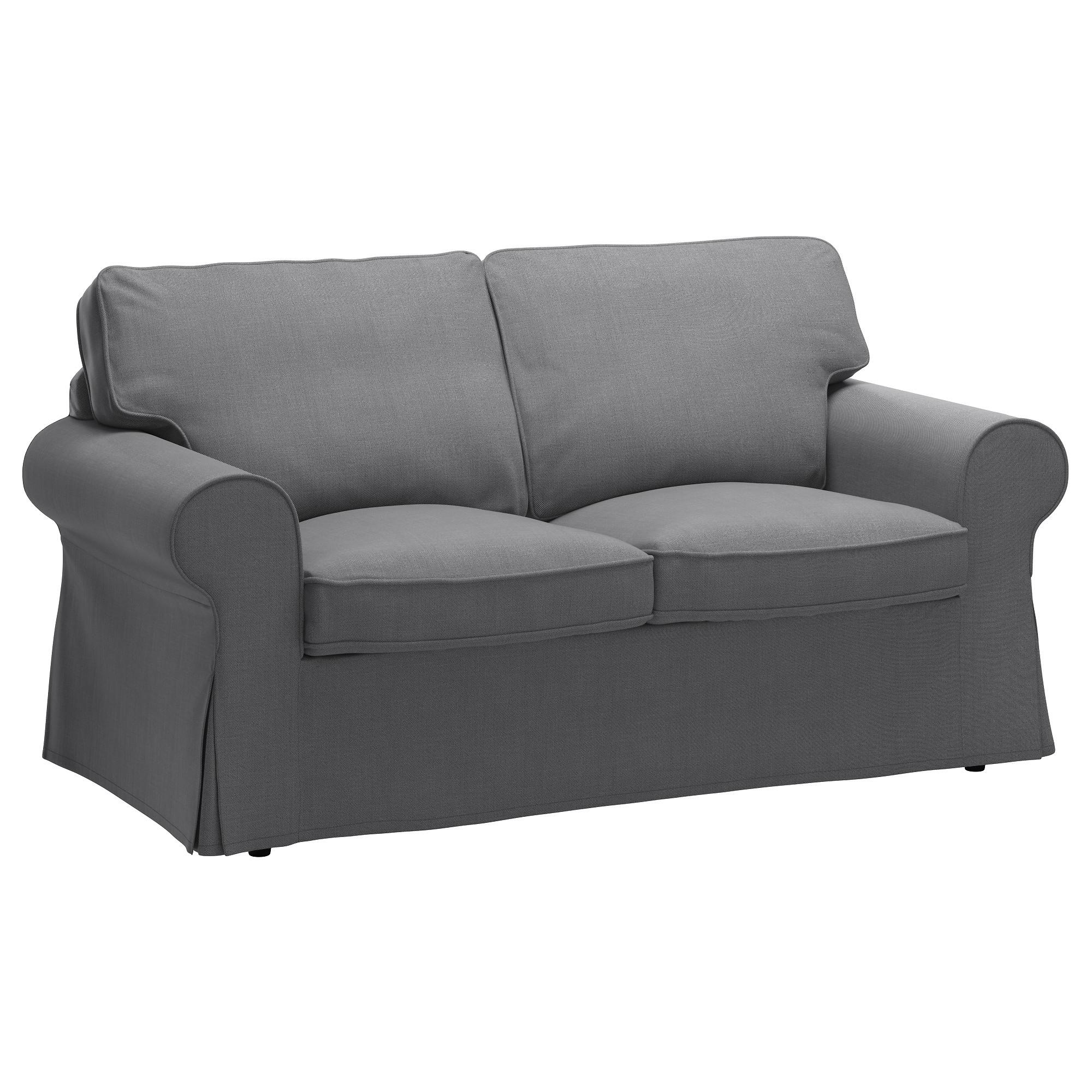 Most Popular Two Seater Sofas With Ektorp Two Seat Sofa Nordvalla Dark Grey – Ikea (View 8 of 20)
