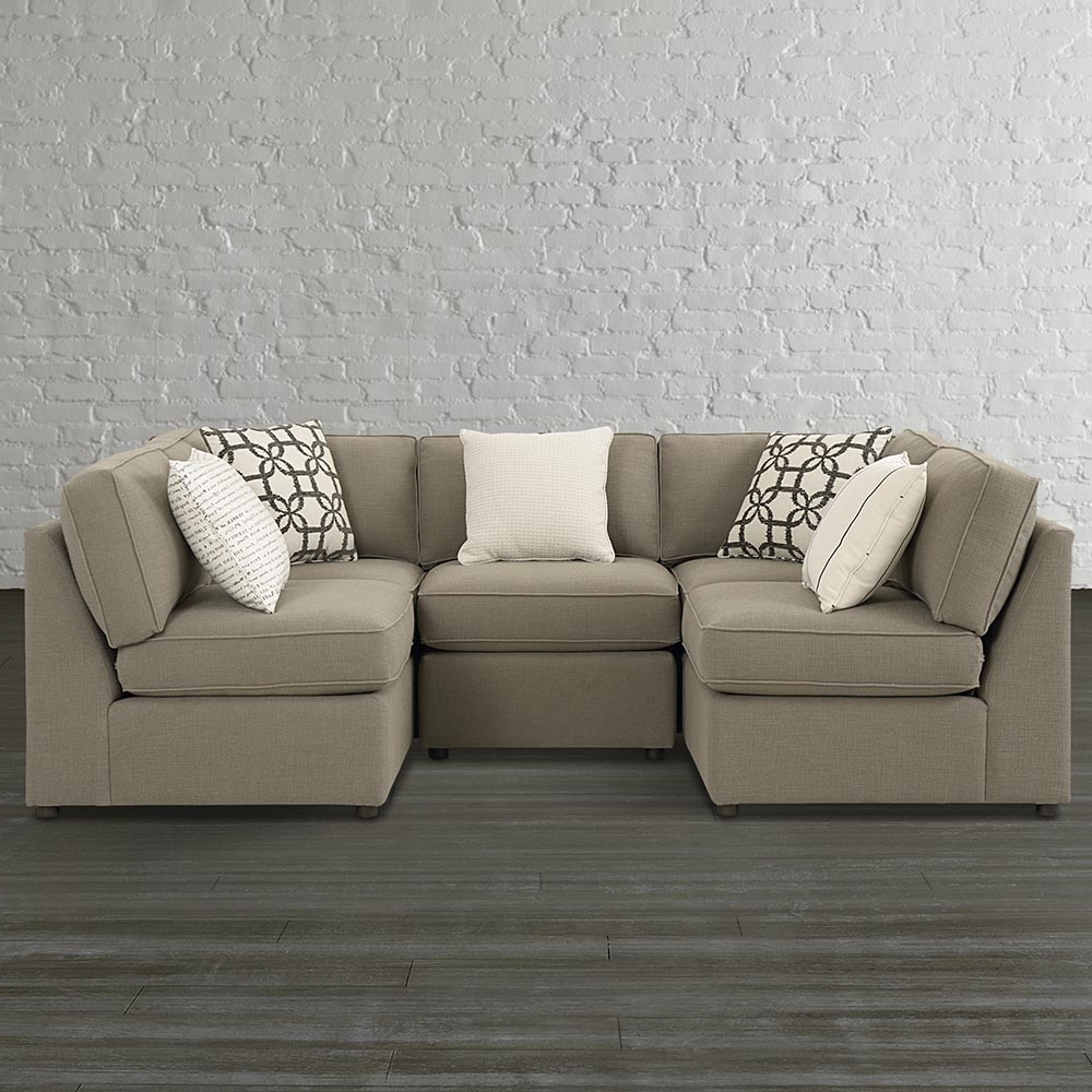 Most Popular White Leather U Shaped Sectional Sofa — Fabrizio Design Throughout Scarborough Sectional Sofas (View 9 of 20)