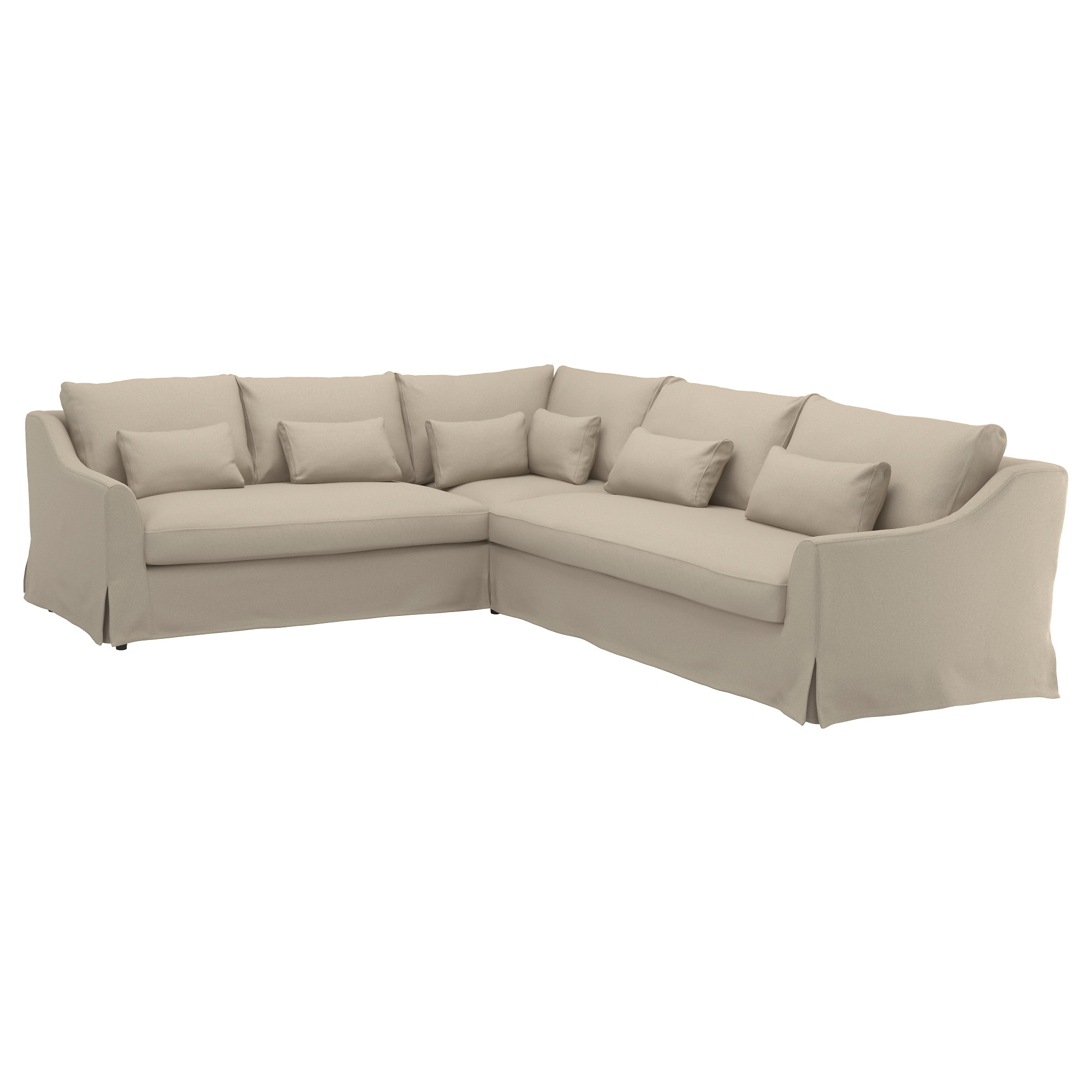 Most Recent 2 Seat Sectional Sofas Pertaining To Färlöv Sectional,5 Seat/sofa Left – Flodafors Beige – Ikea (View 16 of 20)