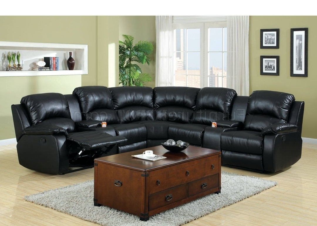 Most Recent Aberdeen Motion Sectional Sofa Cm6557Bp Bonded Leather Match Pertaining To Motion Sectional Sofas (View 10 of 20)