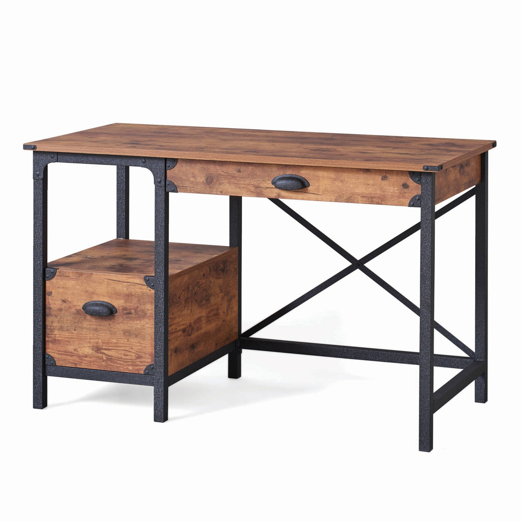 Most Recent Better Homes And Gardens Rustic Country Desk, Weathered Pine Within Rustic Computer Desks (Gallery 6 of 20)