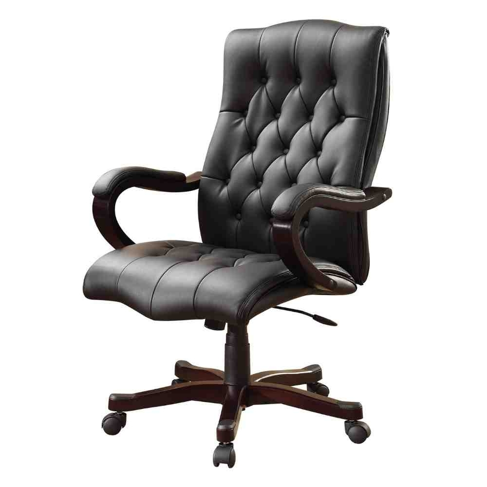 Most Recent Black Executive Office Chairs With High Back With Chair : Tufted High Back Executive Leather Office Chair Chapman (View 13 of 20)