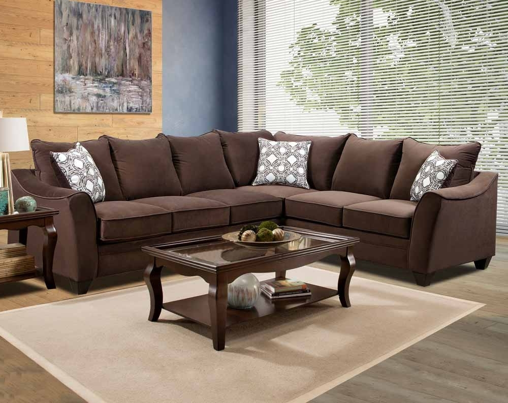 Most Recent Chocolate Sectional Sofas In Factor Chocolate 2 Pc (View 11 of 20)