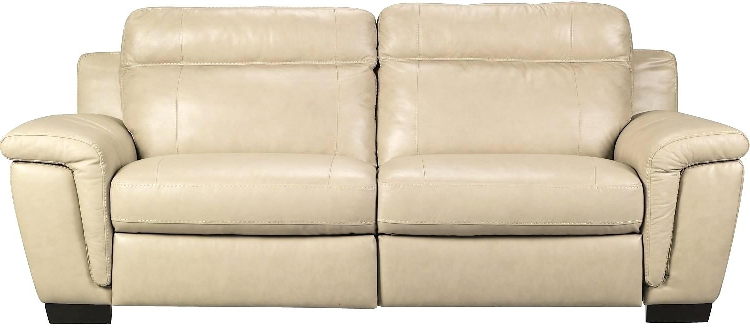 Most Recent Cindy Crawford Furniture Line S Vita Genuine Leather Sofa Smoke Pertaining To The Brick Leather Sofas (View 9 of 20)