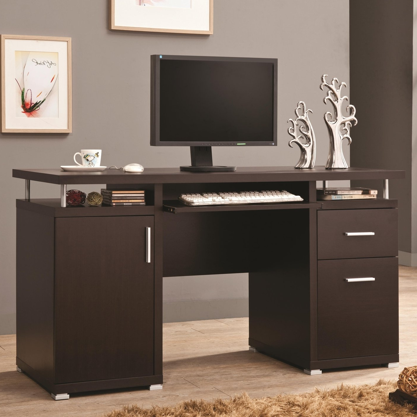 Most Recent Computer Desks With Drawers With Top 78 Superb Home Desk With Hutch Small Computer White Corner (View 8 of 20)