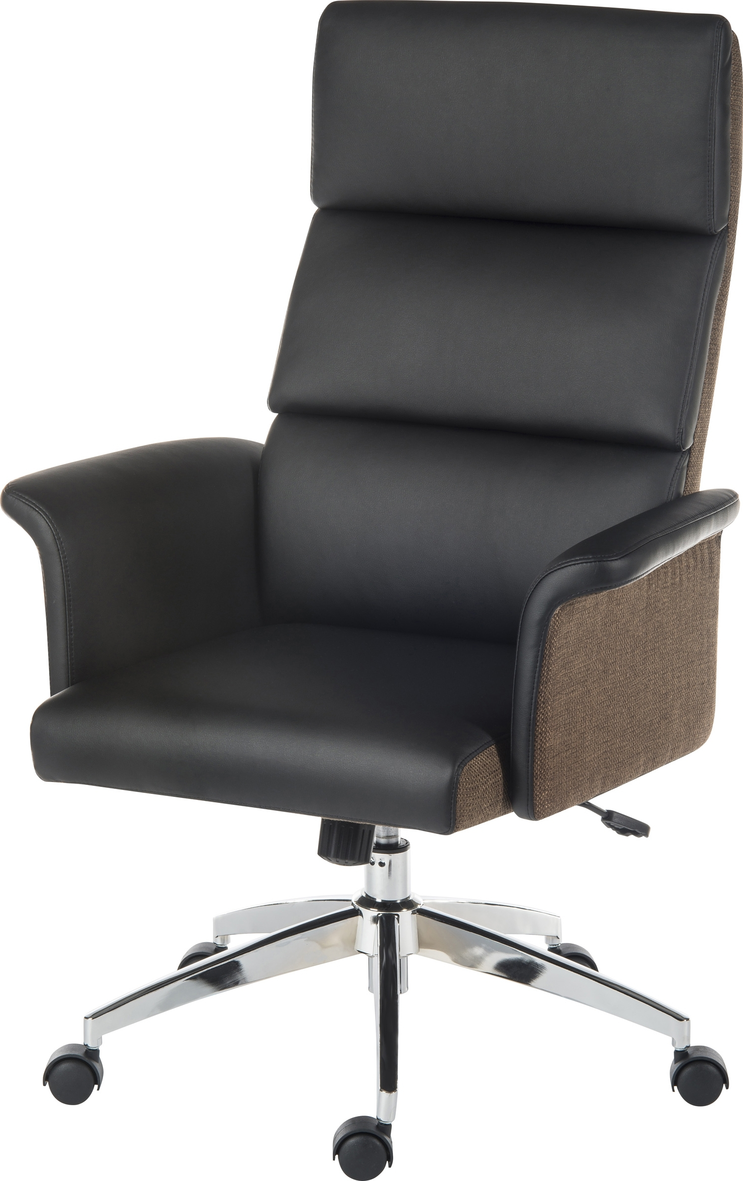 Most Recent Elegance High Backed Retro Executive Office Chair Black (View 11 of 20)