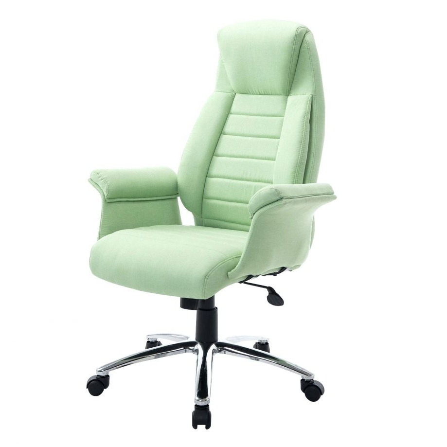 Most Recent Executive Office Chairs With Shiatsu Massager For Fascinating High Back Fabric Executive Office Chair Light Green (View 14 of 20)