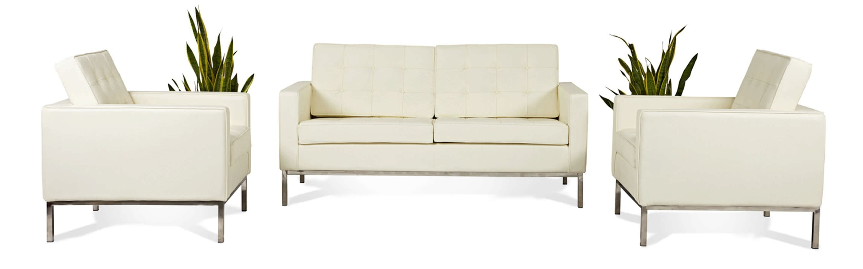 Most Recent Florence Sofas And Loveseats Throughout Florence Knoll Style Loveseat 2 Seater Small Sofa Mid Century Modern (View 9 of 20)