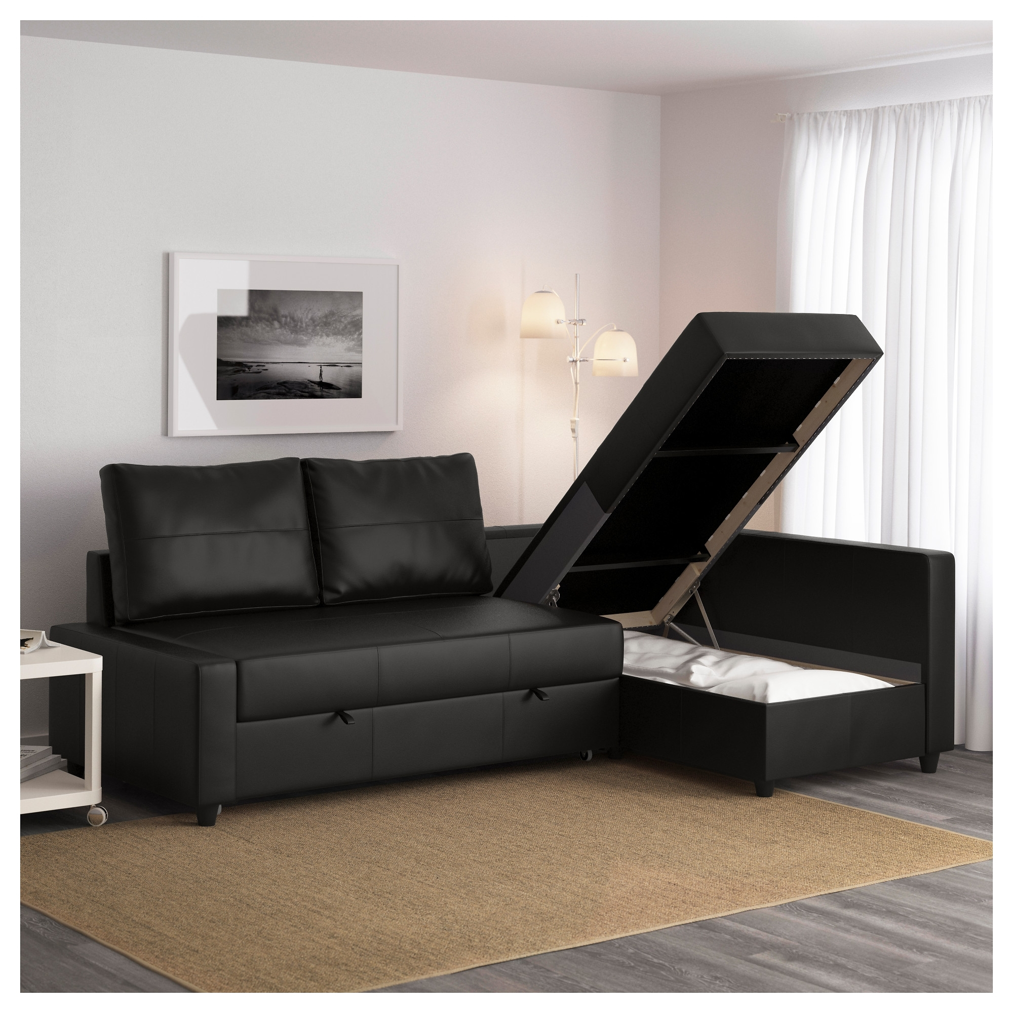 Most Recent Friheten Sleeper Sectional,3 Seat W/storage – Skiftebo Dark Gray Intended For Storage Sofas (View 2 of 20)